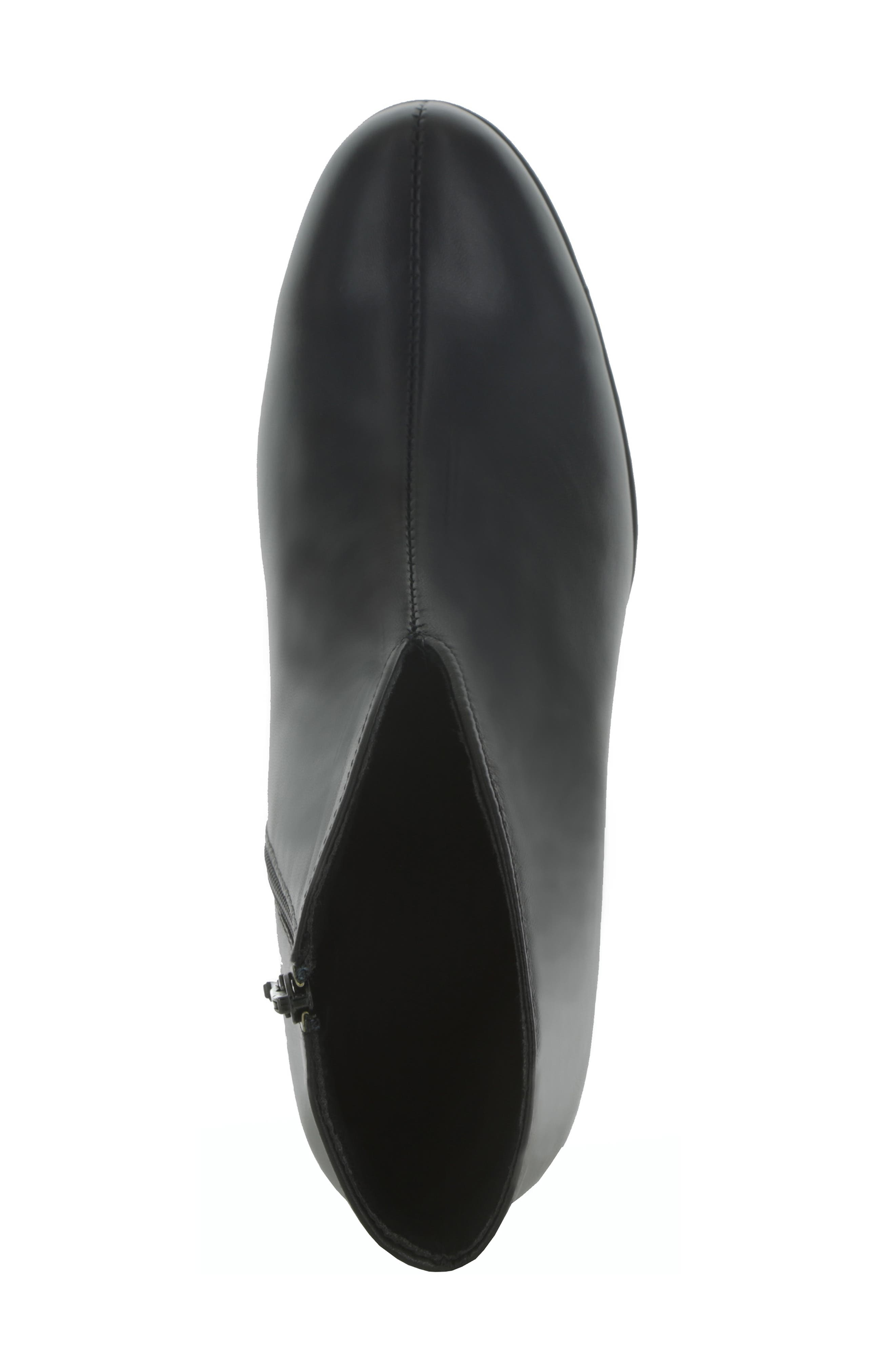 MUNRO, Robynette Bootie, Alternate thumbnail 3, color, BLACK LEATHER