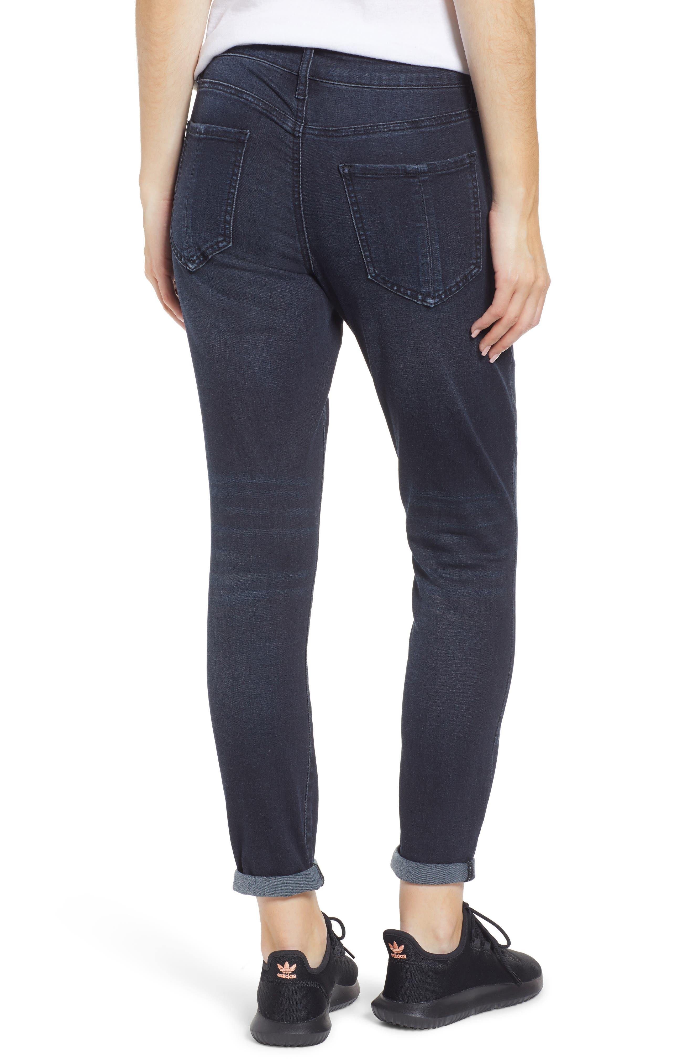 PROSPERITY DENIM, High Waist Ankle Boyfriend Jeans, Alternate thumbnail 2, color, ROCKER WASH