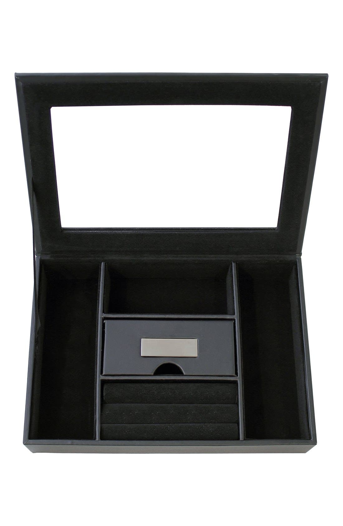 CATHY'S CONCEPTS Monogram Valet Box, Main, color, BLANK