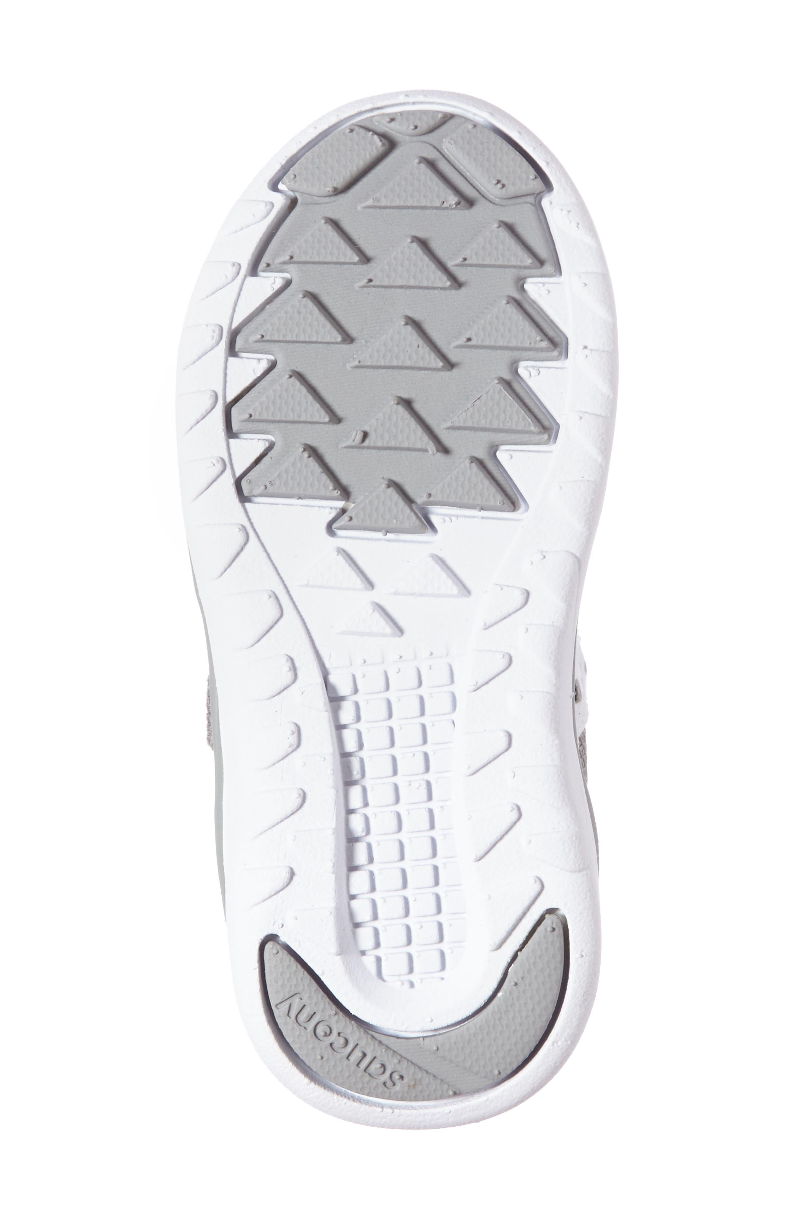SAUCONY, Jazz Lite Sneaker, Alternate thumbnail 4, color, GREY/ WHITE