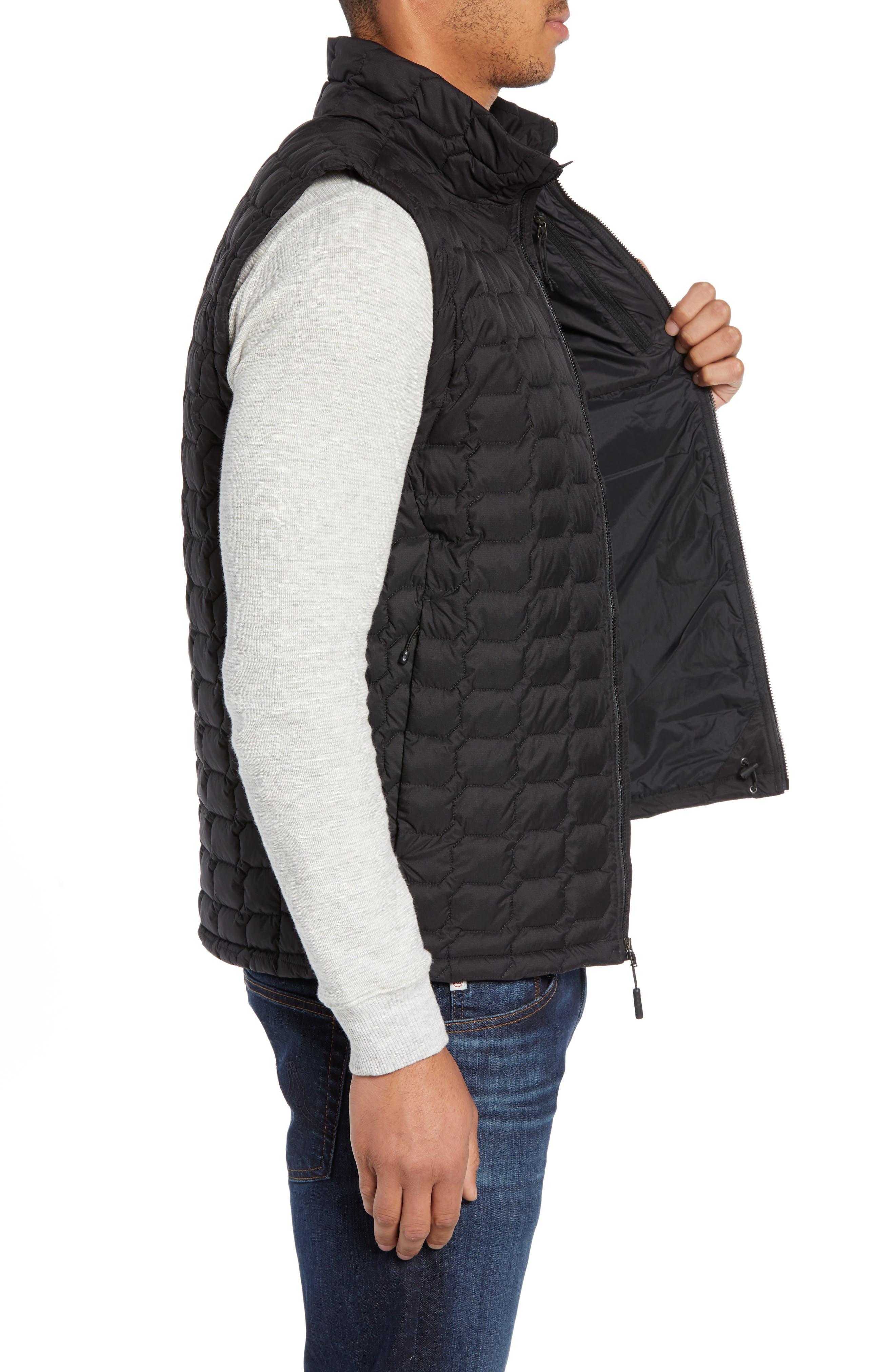 THE NORTH FACE, Thermoball<sup>®</sup> PrimaLoft<sup>®</sup> Vest, Alternate thumbnail 4, color, TNF BLACK MATTE