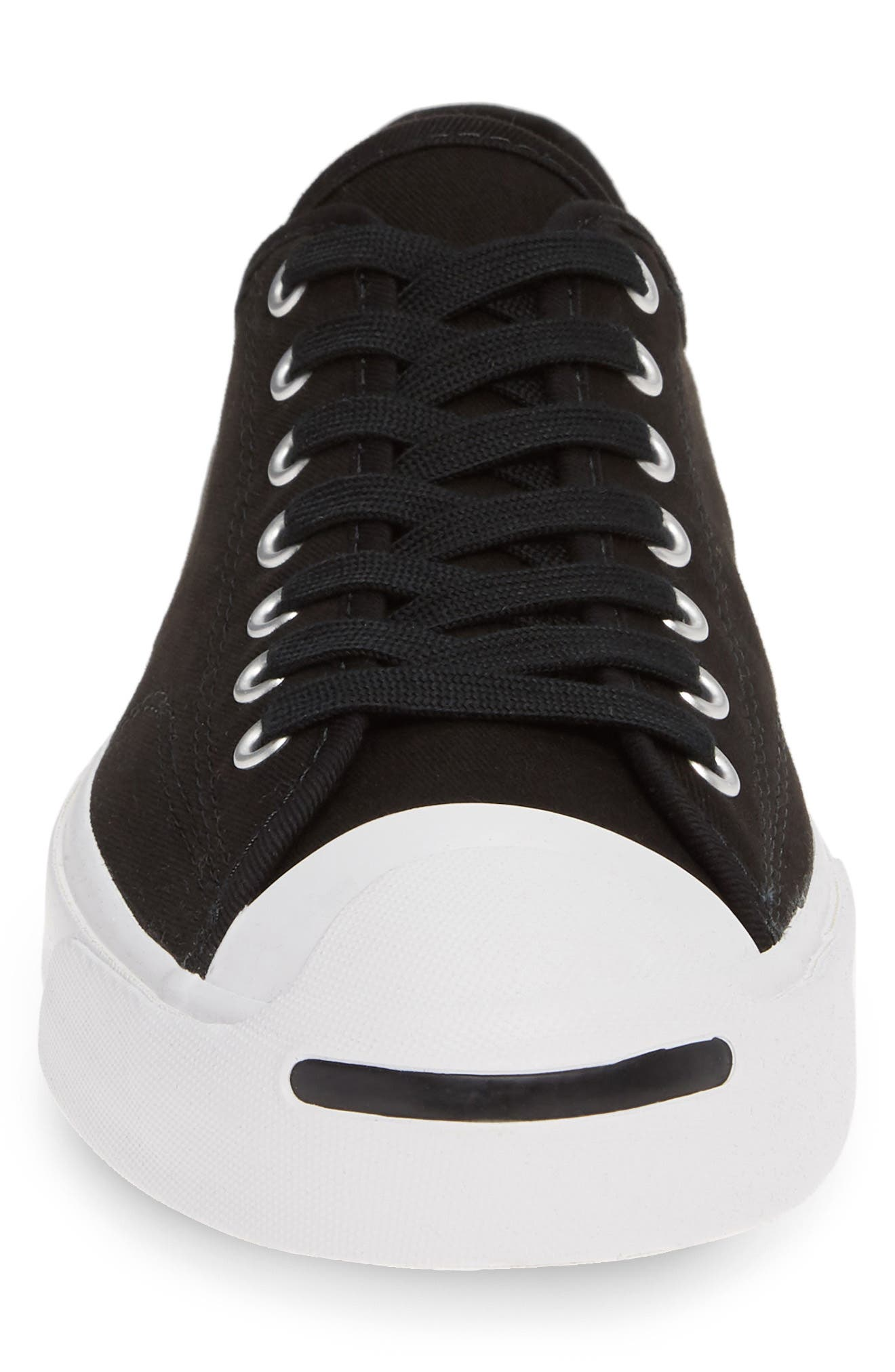CONVERSE, Jack Purcell Sneaker, Alternate thumbnail 4, color, BLACK/ WHITE/ BLACK