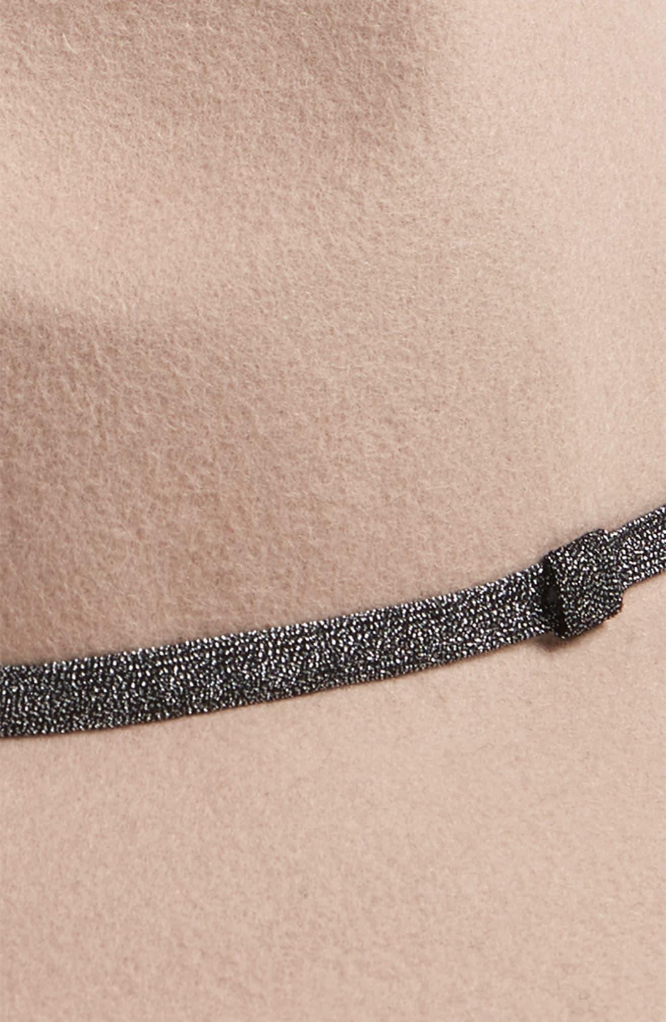 TREASURE & BOND, Metallic Band Wool Felt Panama Hat, Alternate thumbnail 2, color, 630
