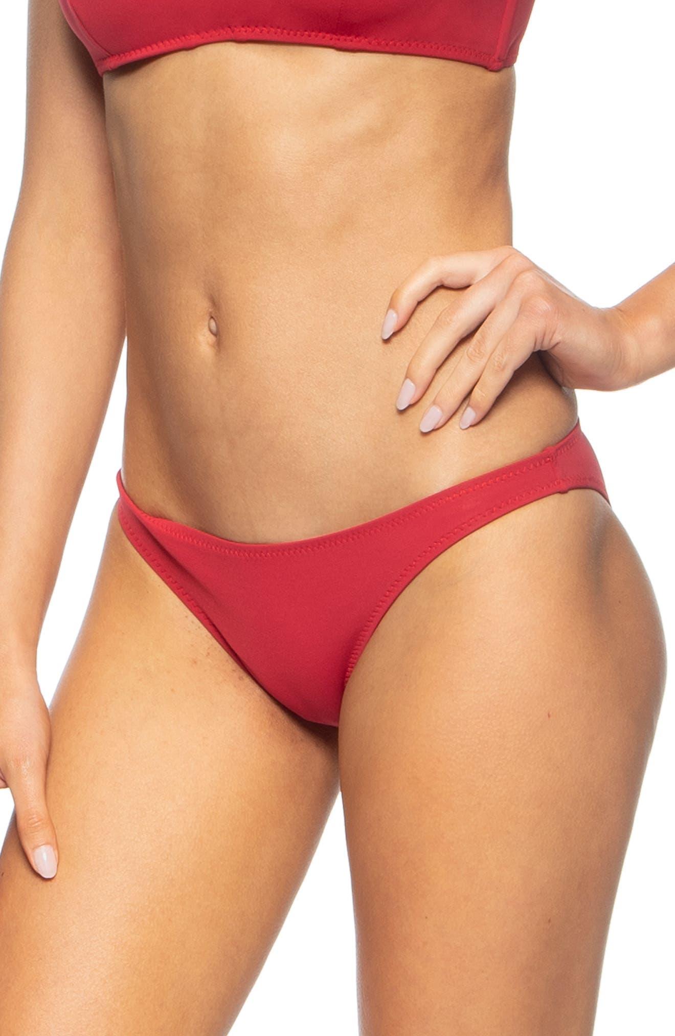 TAVIK, Veda Bikini Bottoms, Alternate thumbnail 3, color, SCOOTER RED