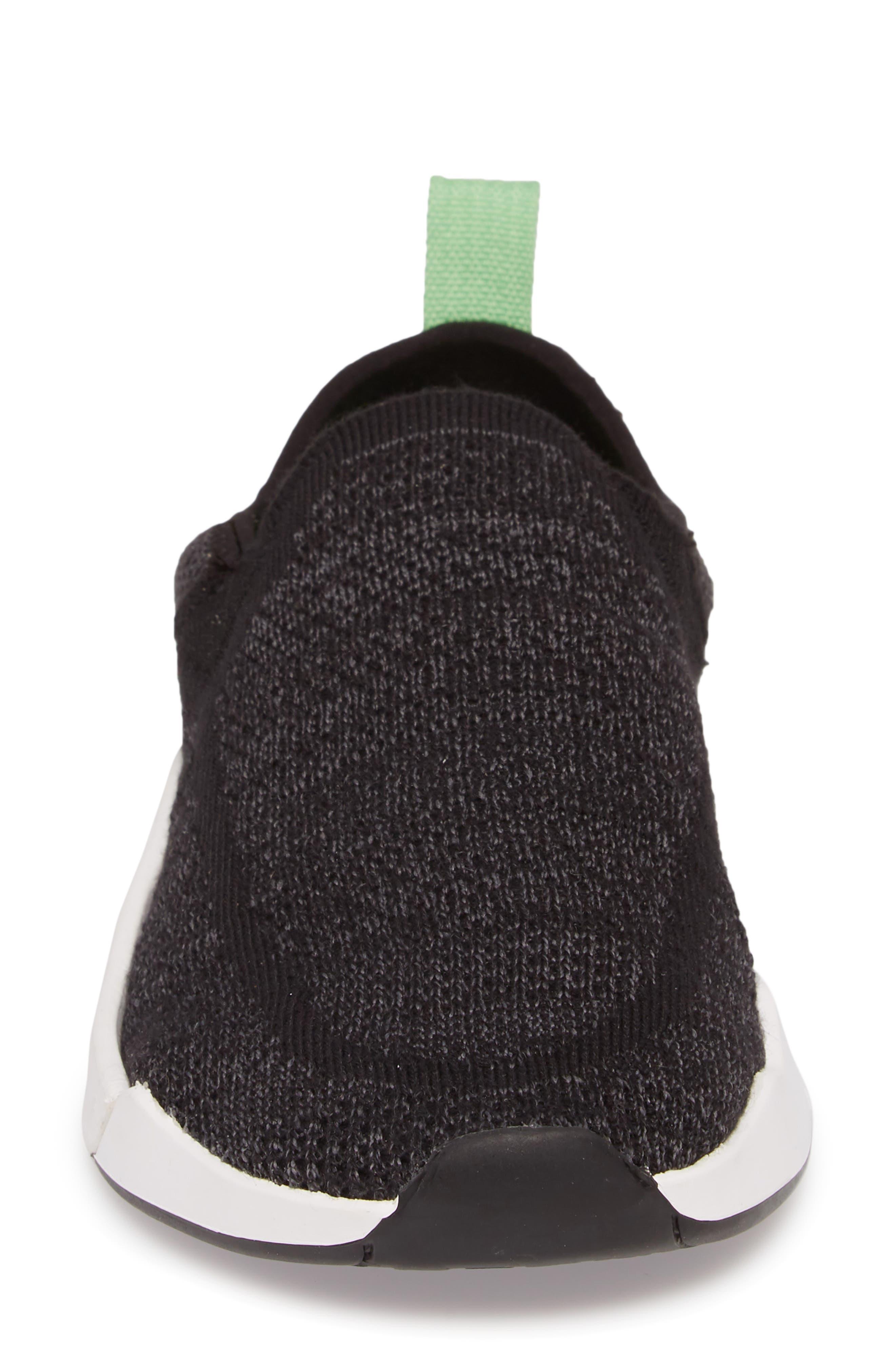 SANUK, Chiba Quest Knit Slip-On Sneaker, Alternate thumbnail 4, color, BLACK