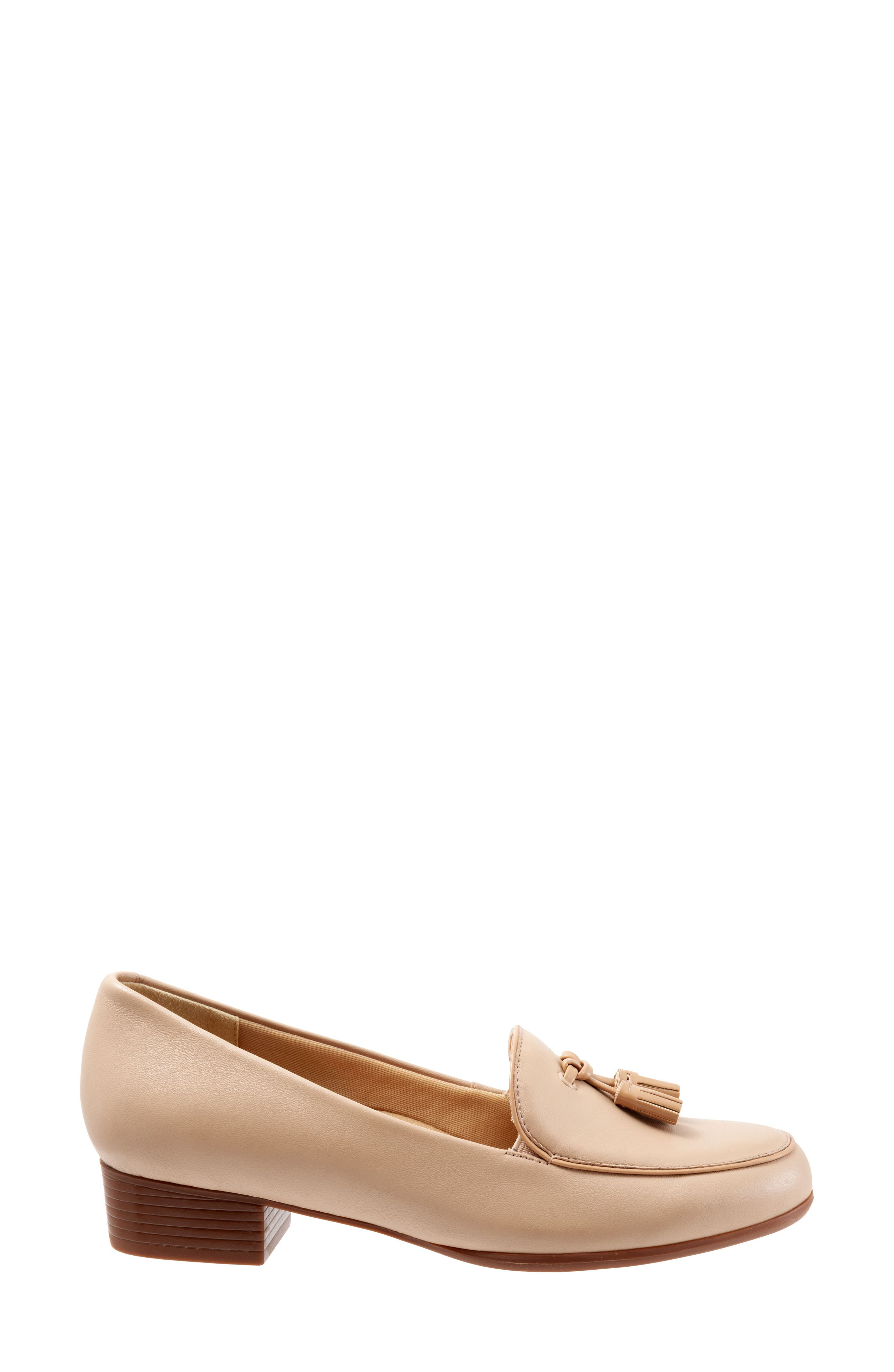 TROTTERS, Mary Tassel Loafer, Alternate thumbnail 3, color, NUDE LEATHER