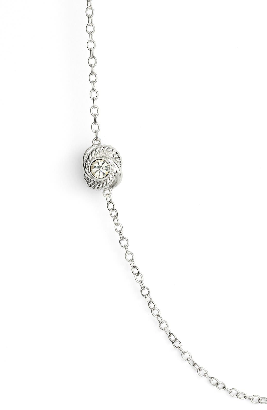 KATE SPADE NEW YORK, 'infinity and beyond' knot station necklace, Alternate thumbnail 2, color, 040