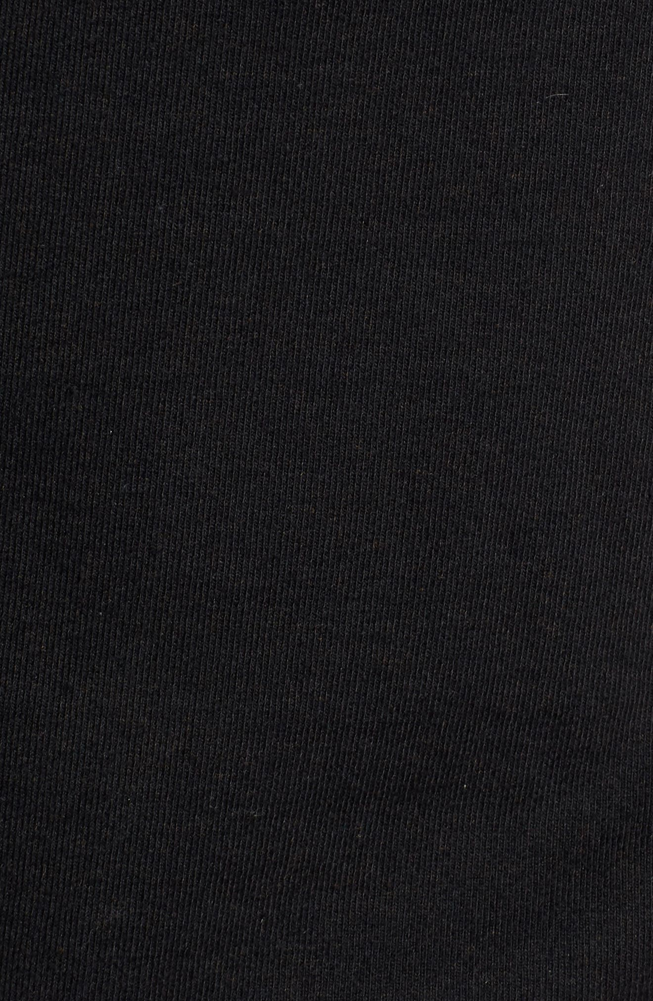 PATAGONIA, P6 Logo Uprisal Hooded Sweatshirt, Alternate thumbnail 5, color, BLACK