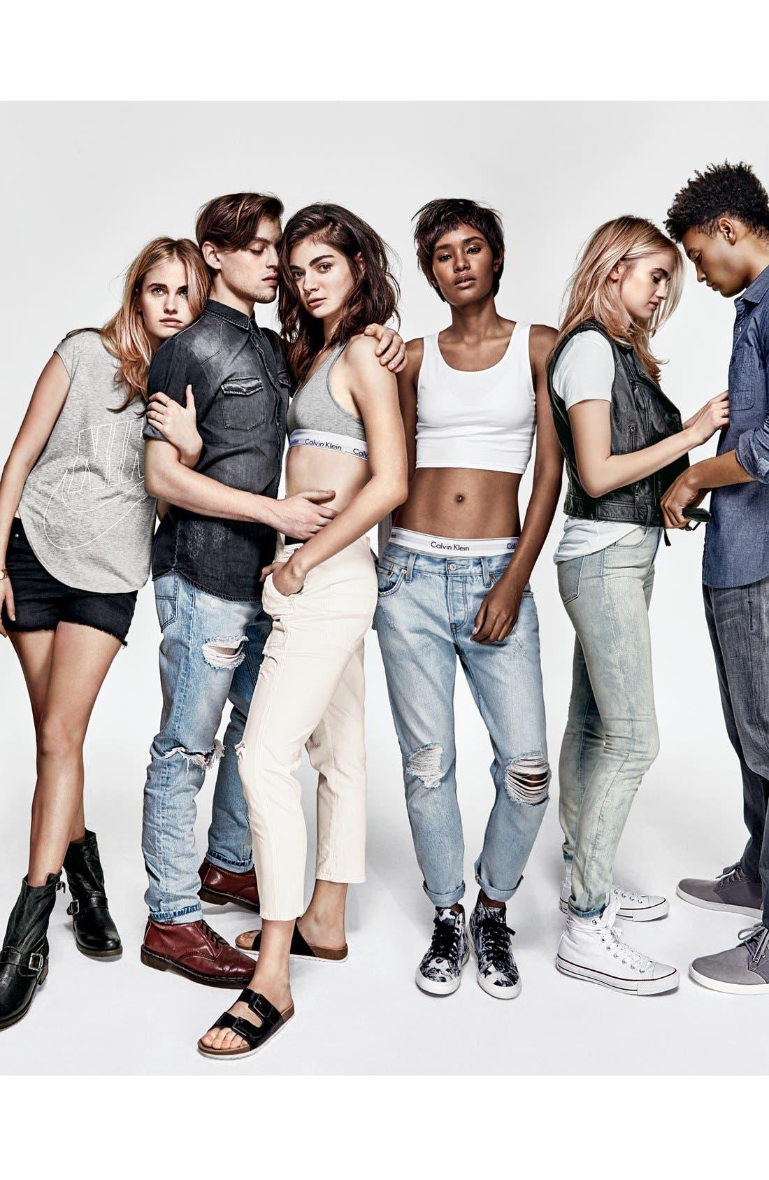 LEVI'S<SUP>®</SUP>, Levi's '501<sup>®</sup> CT' Boyfriend Jeans, Alternate thumbnail 5, color, 400