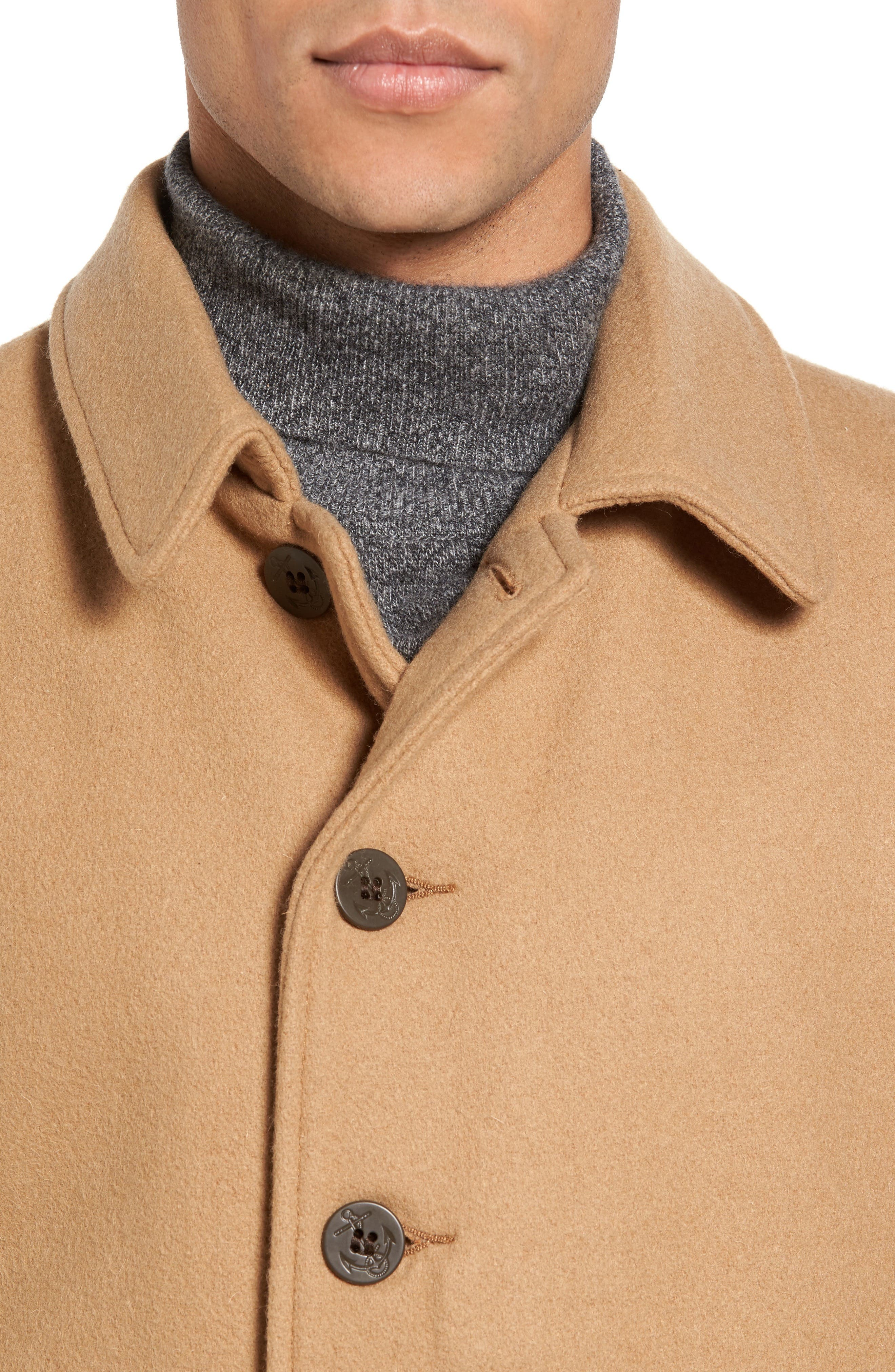 SCHOTT NYC, Wool Blend Officer's Coat, Alternate thumbnail 4, color, 200