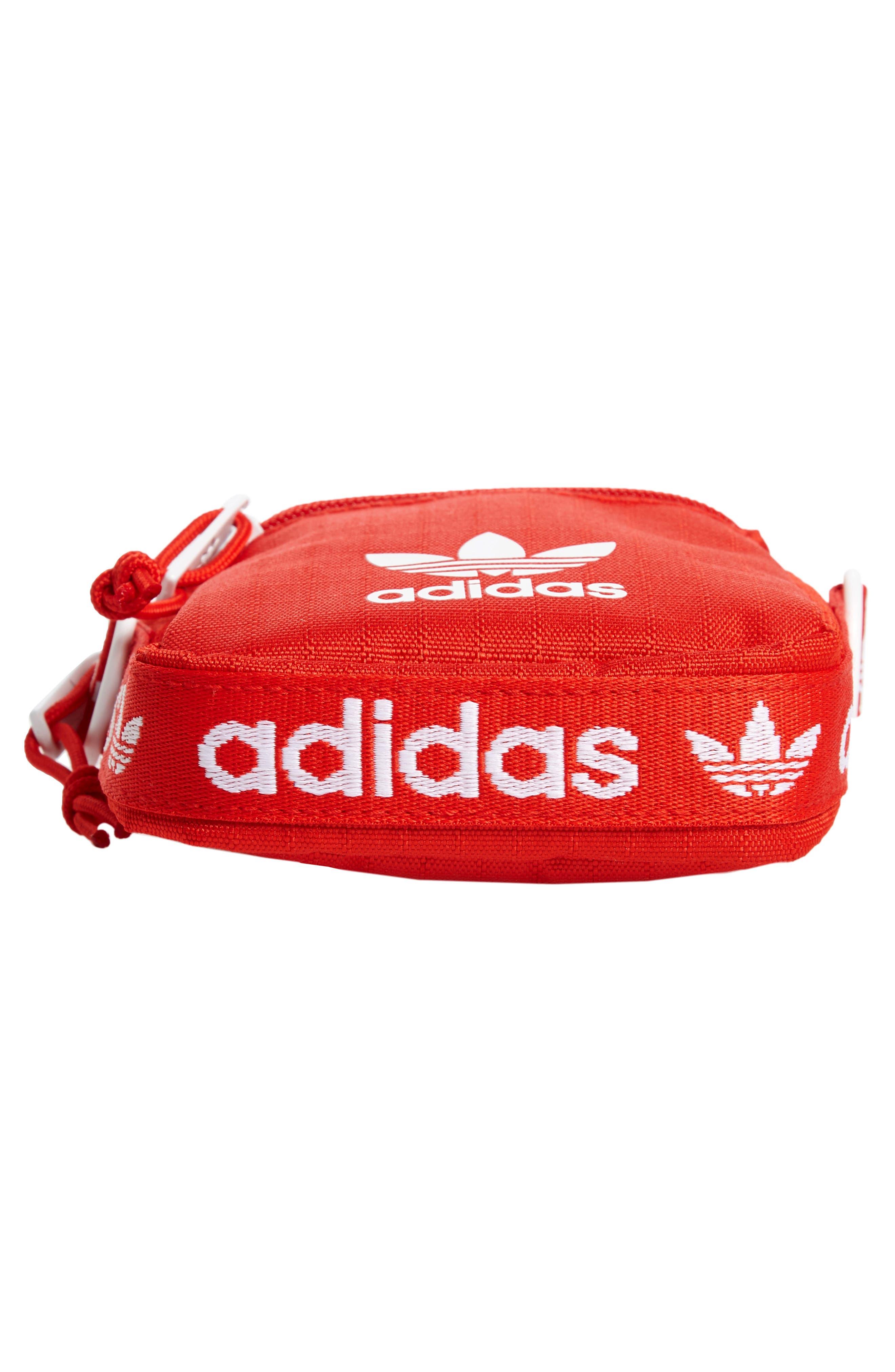 ADIDAS, Logo Belt Bag, Alternate thumbnail 7, color, RED