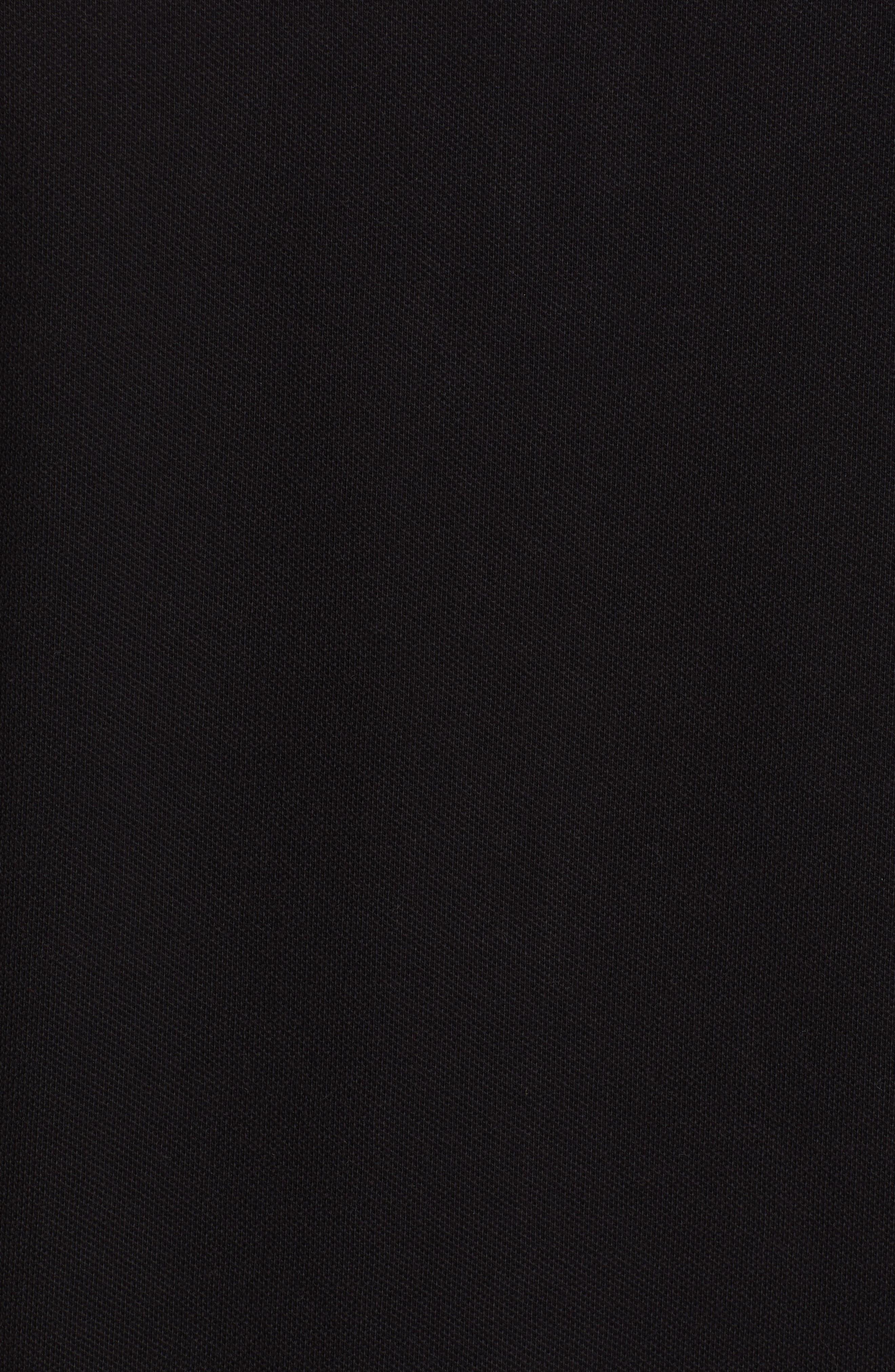 VERSACE COLLECTION, Geometric Pique Polo, Alternate thumbnail 5, color, 001