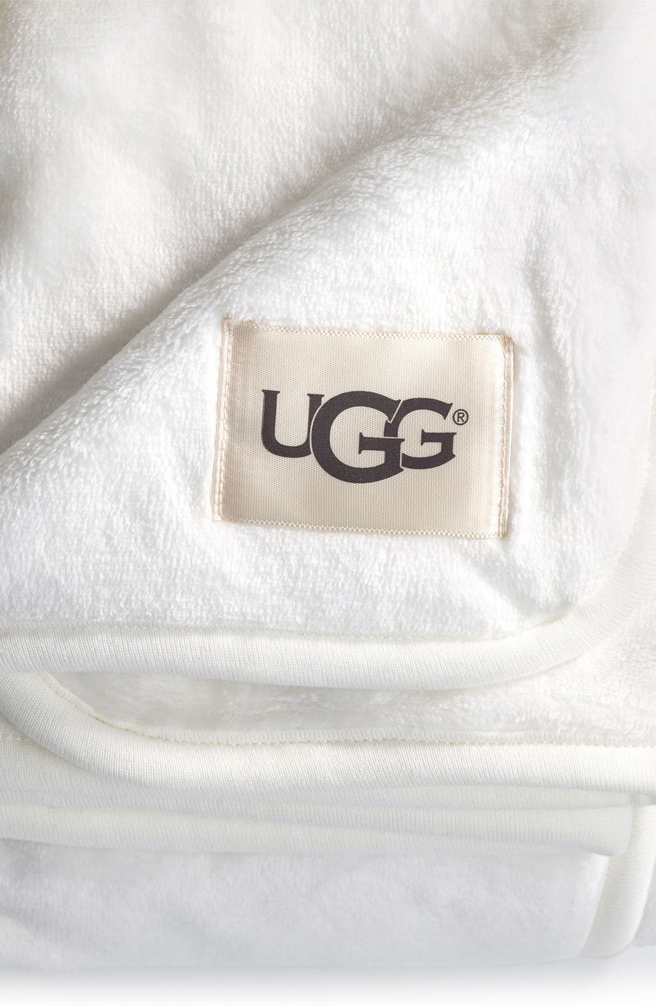 UGG<SUP>®</SUP>, XL Duffield Spa Throw, Alternate thumbnail 2, color, CREAM