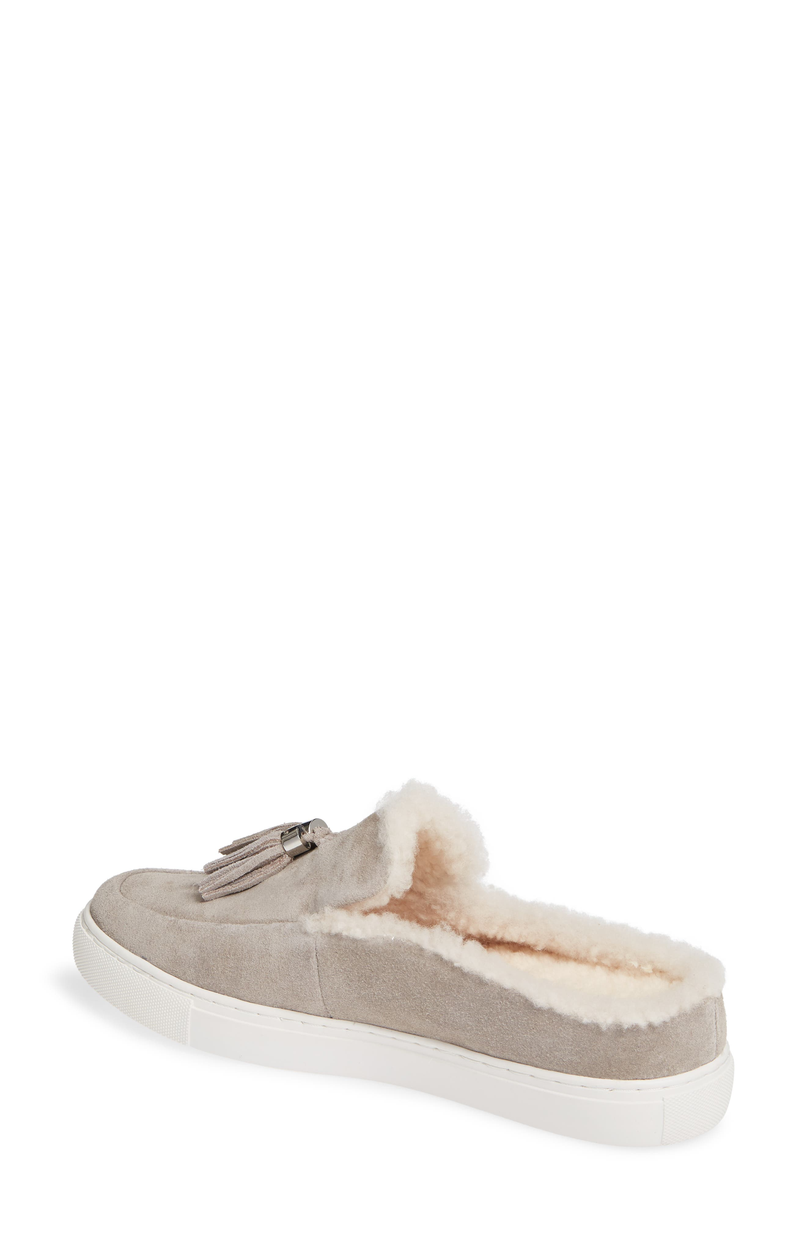 GENTLE SOULS BY KENNETH COLE, Rory Loafer Mule, Alternate thumbnail 2, color, STONE NUBUCK LEATHER