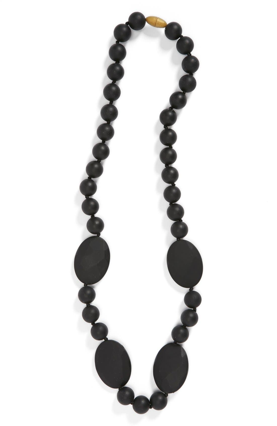 CHEWBEADS, Perry Teether Necklace, Main thumbnail 1, color, BLACK