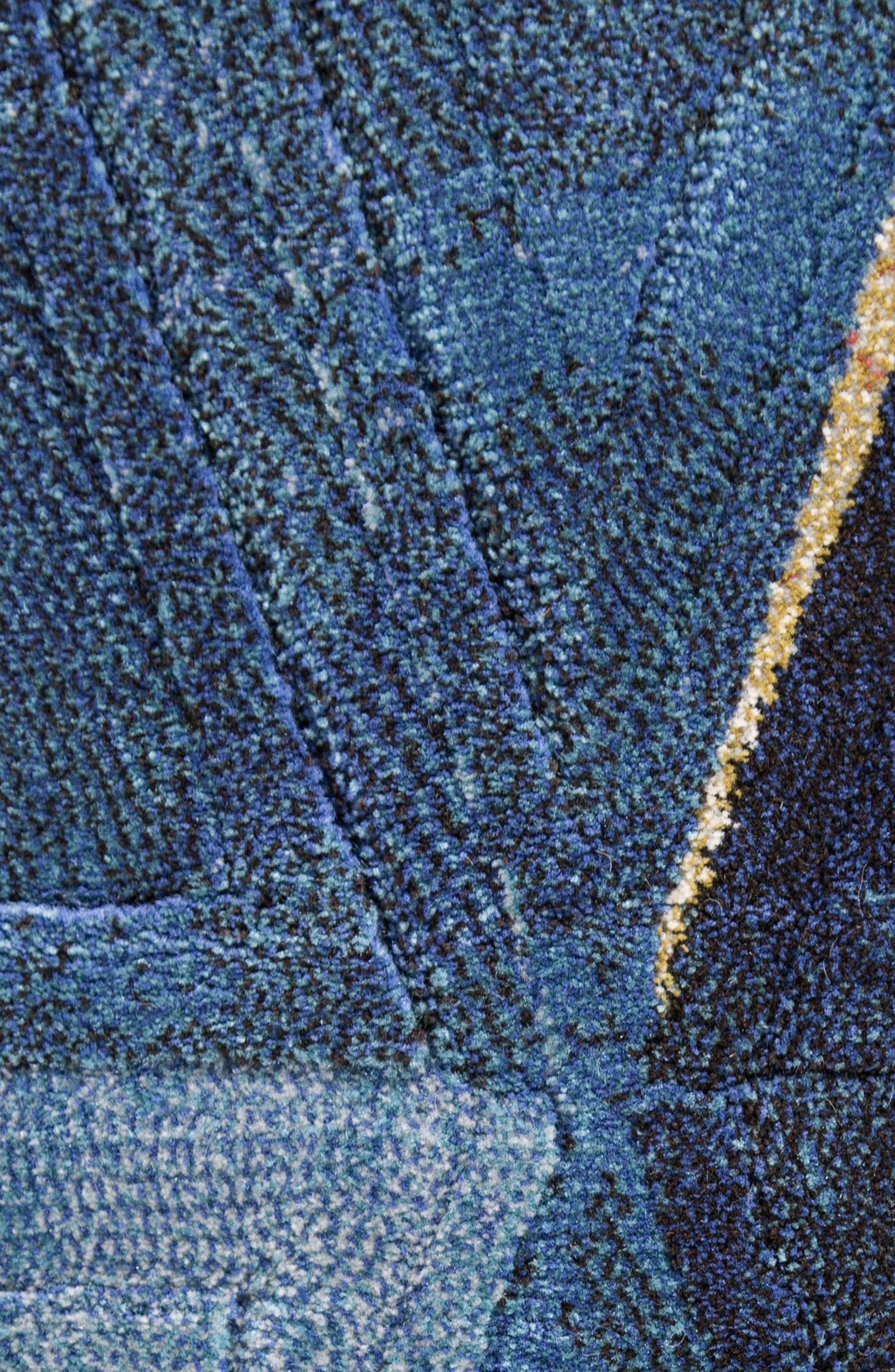 JAIPUR, Dash Rug, Alternate thumbnail 4, color, NAVY BLUE