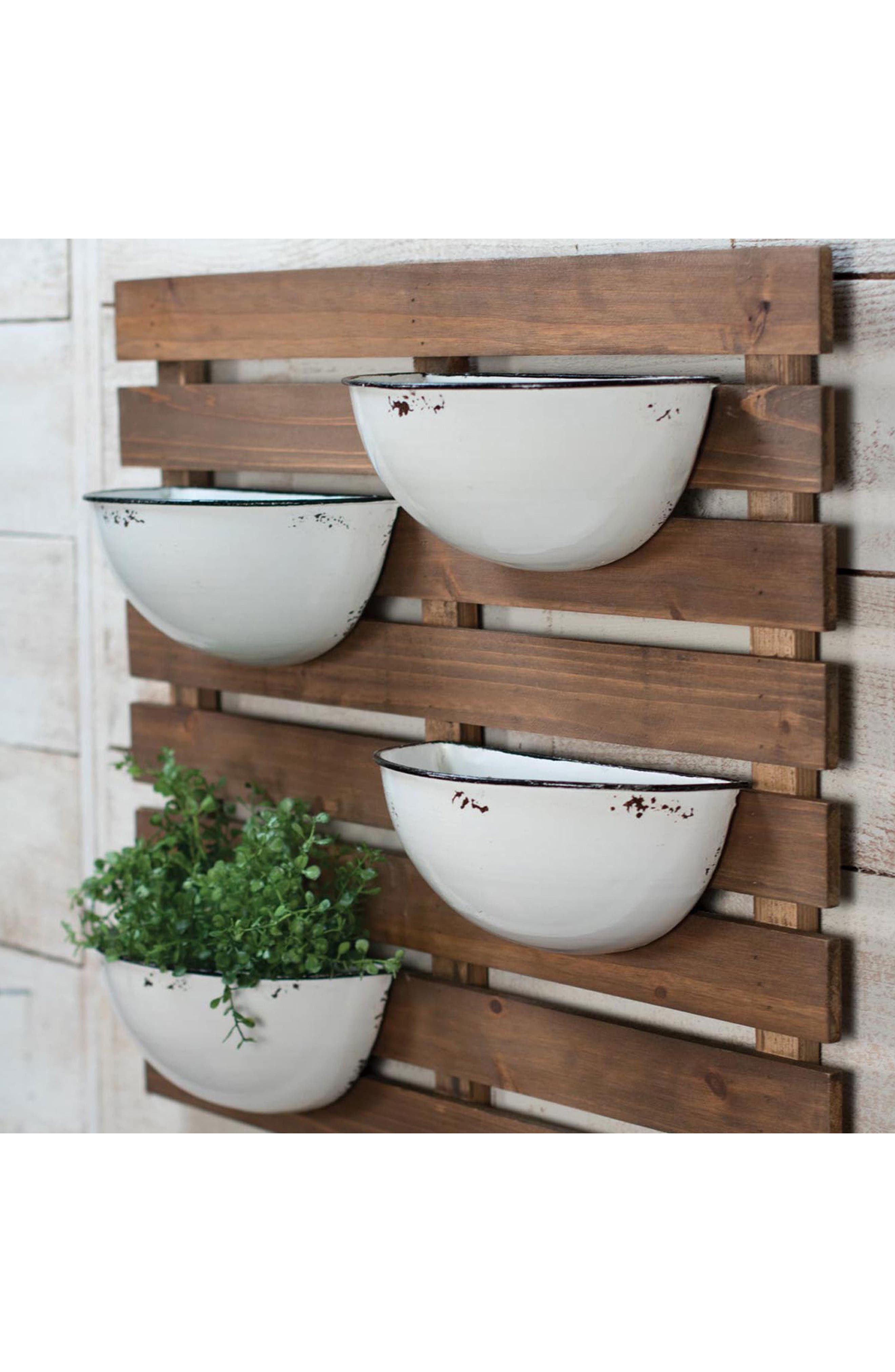 FORESIDE, Enamel Pot Wall Planter, Alternate thumbnail 2, color, 200