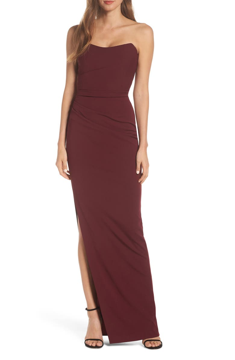 Katie May Dresses SWAY STRAPLESS COLUMN DRESS