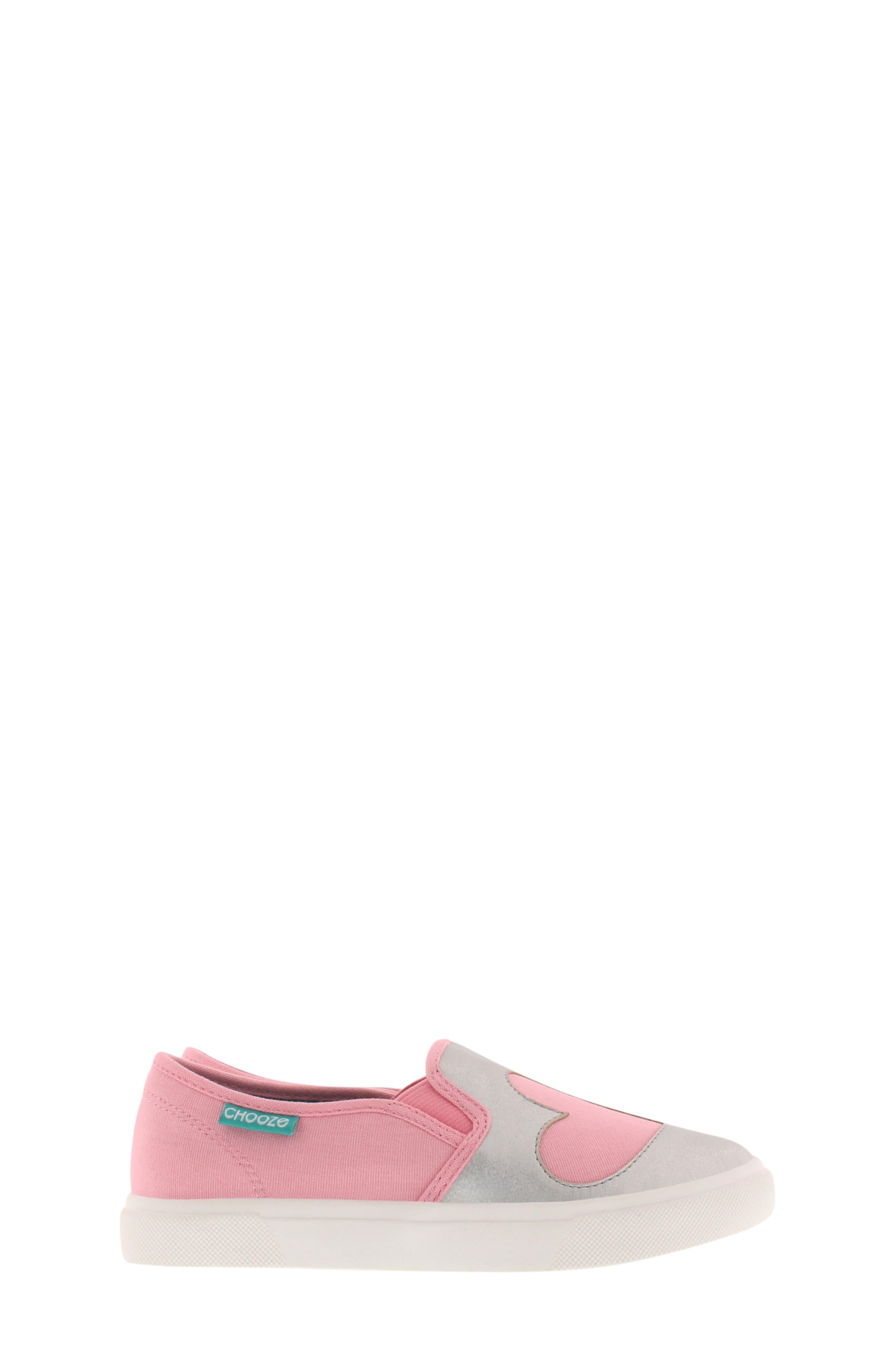 CHOOZE, Little Choice Starheart Slip-On Sneaker, Alternate thumbnail 3, color, SILVER
