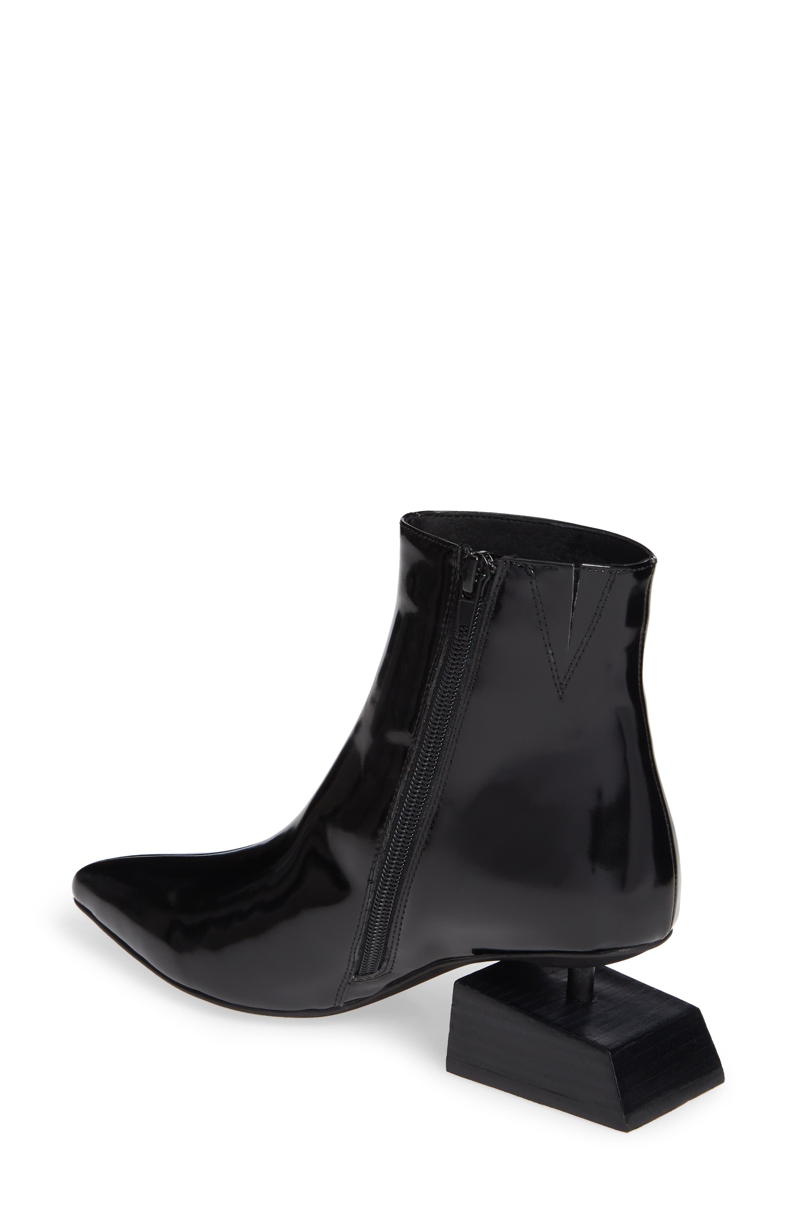 JEFFREY CAMPBELL, Anatomic Boot, Alternate thumbnail 2, color, BLACK LEATHER