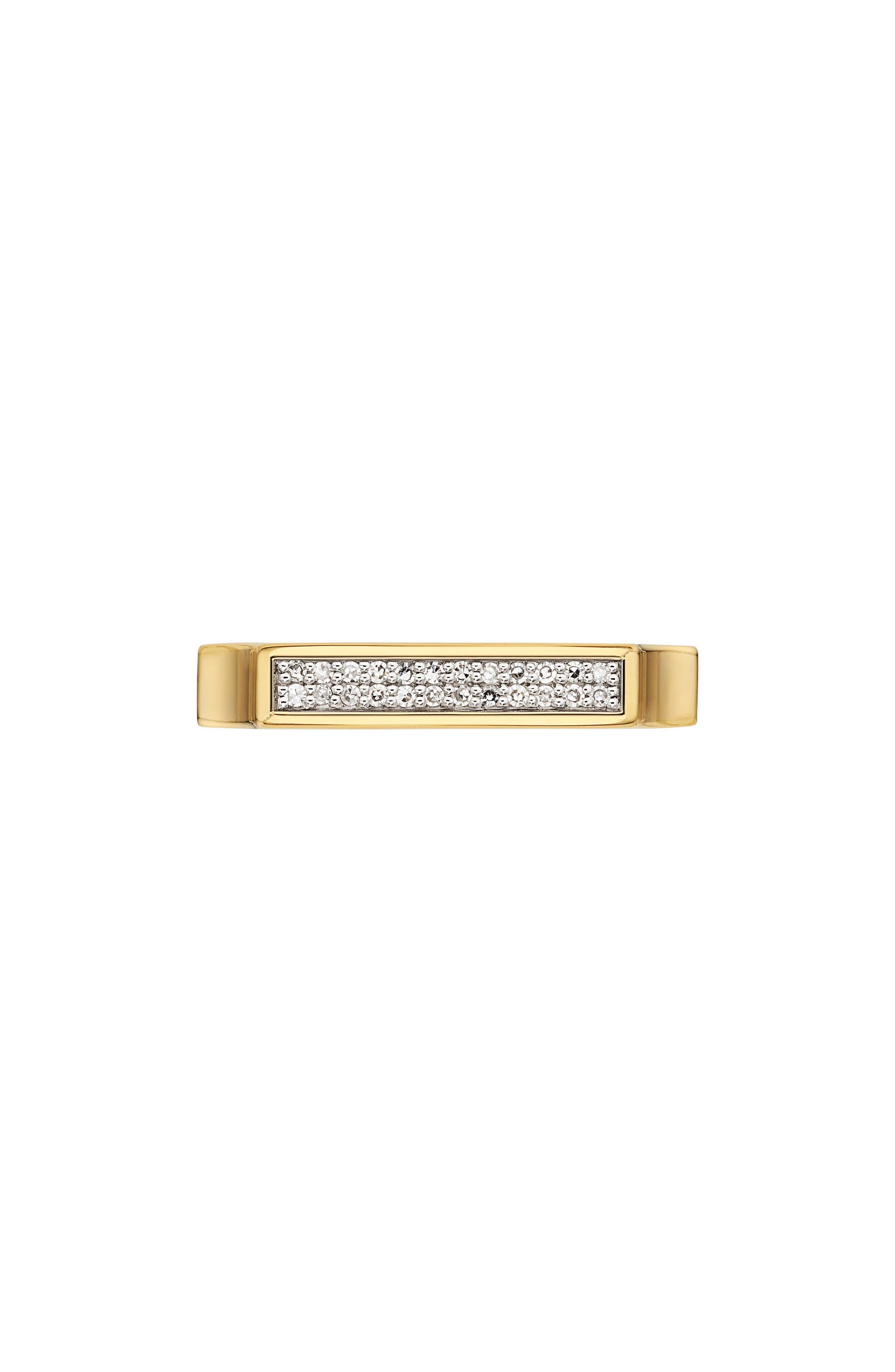 MONICA VINADER, Diamond Signature Ring, Main thumbnail 1, color, YELLOW GOLD