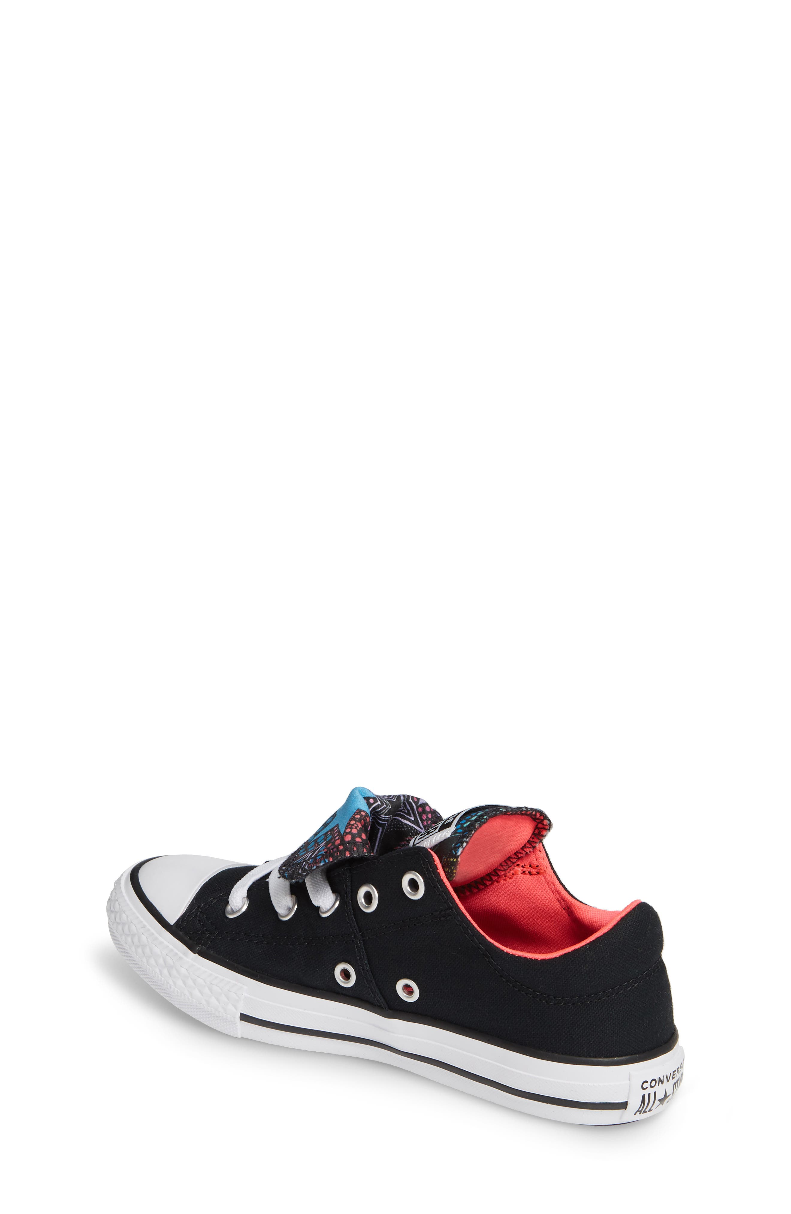 CONVERSE, Chuck Taylor<sup>®</sup> All Star<sup>®</sup> Maddie Double Tongue Sneaker, Alternate thumbnail 2, color, 001