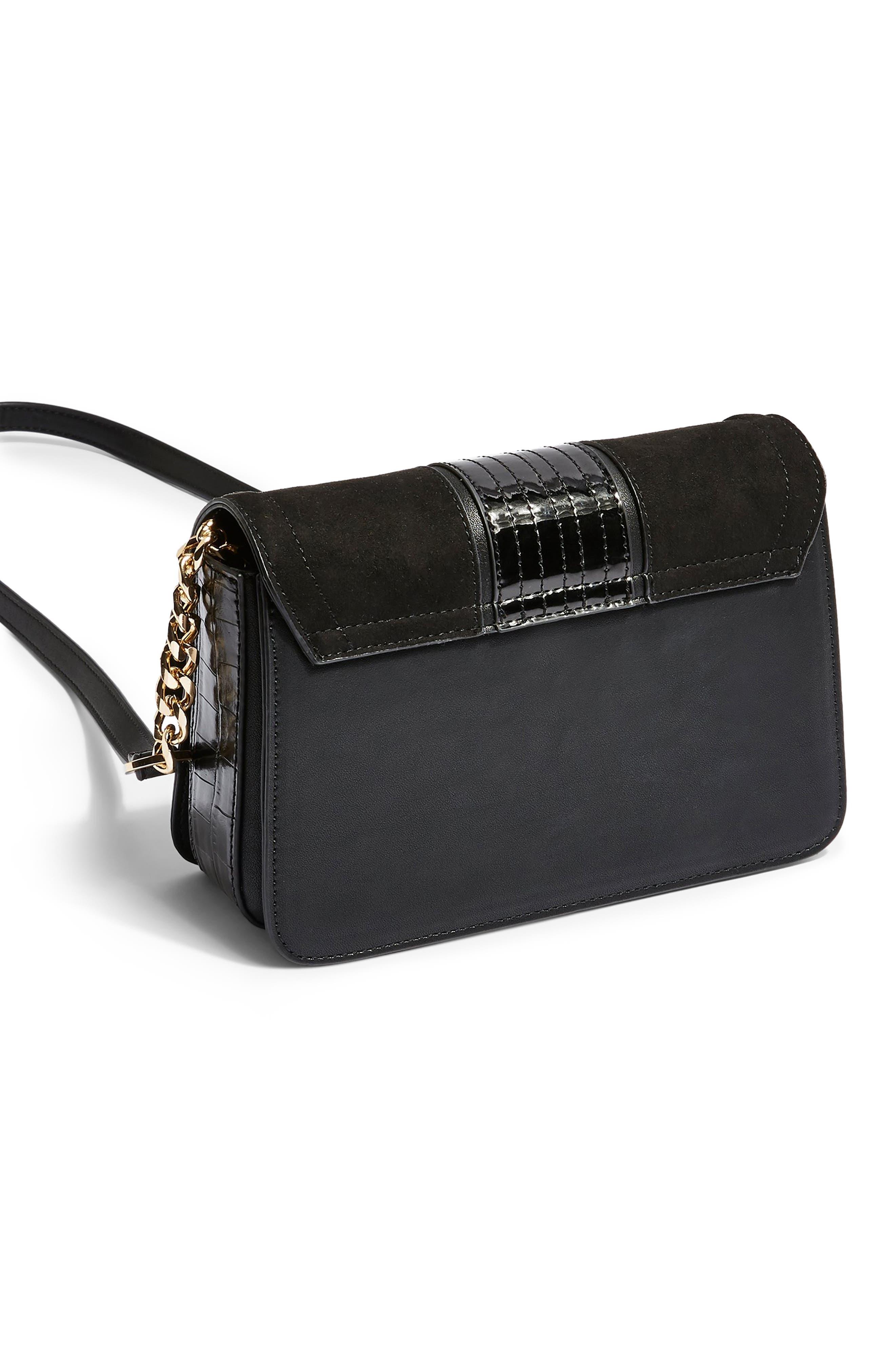 TOPSHOP, Cheetah Crossbody Bag, Alternate thumbnail 2, color, BLACK MULTI