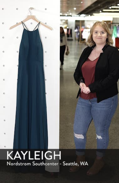 Kayla A-Line Halter Gown, sales video thumbnail