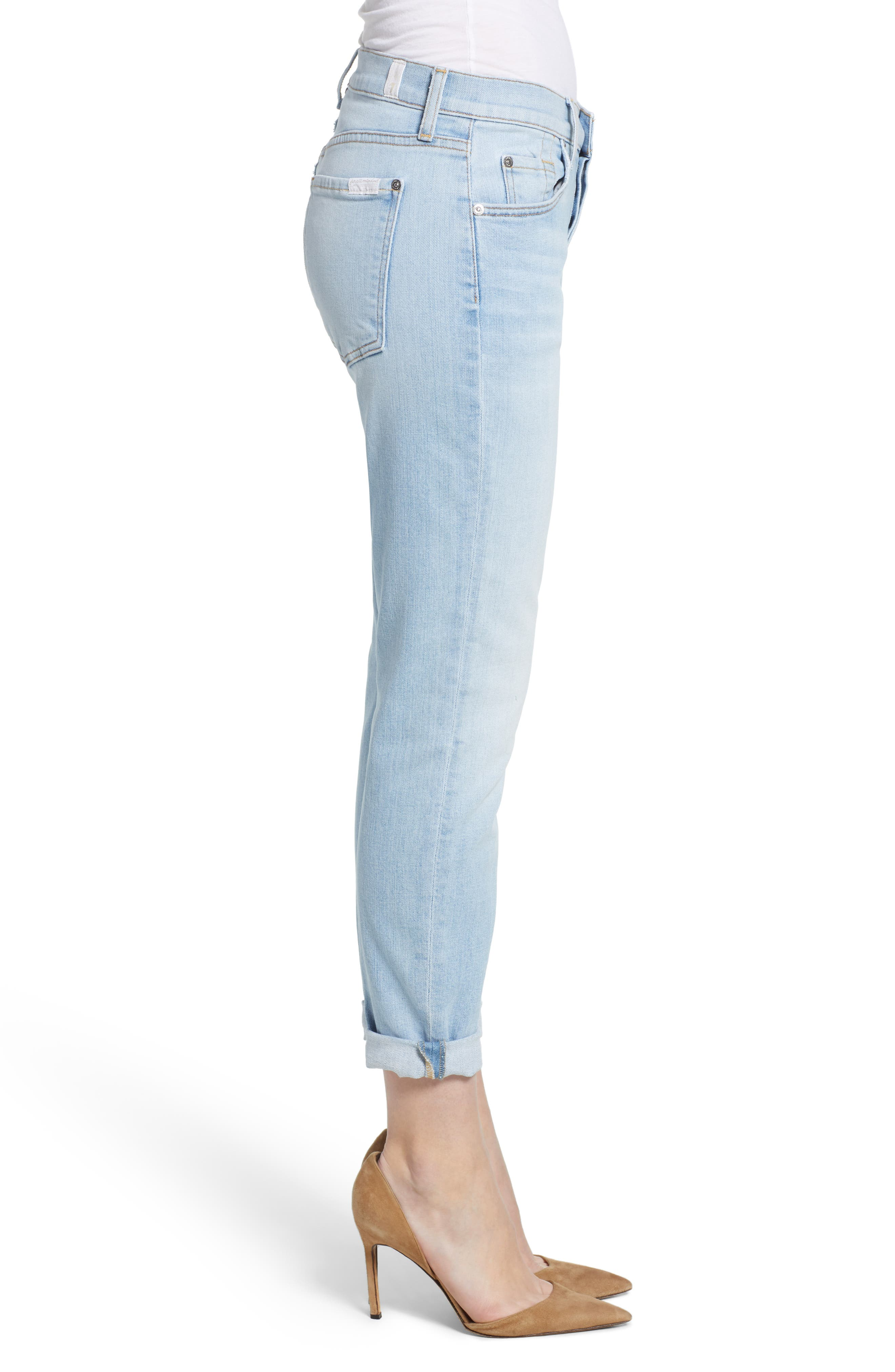 7 FOR ALL MANKIND<SUP>®</SUP>, 'Josefina' Boyfriend Jeans, Alternate thumbnail 4, color, 408