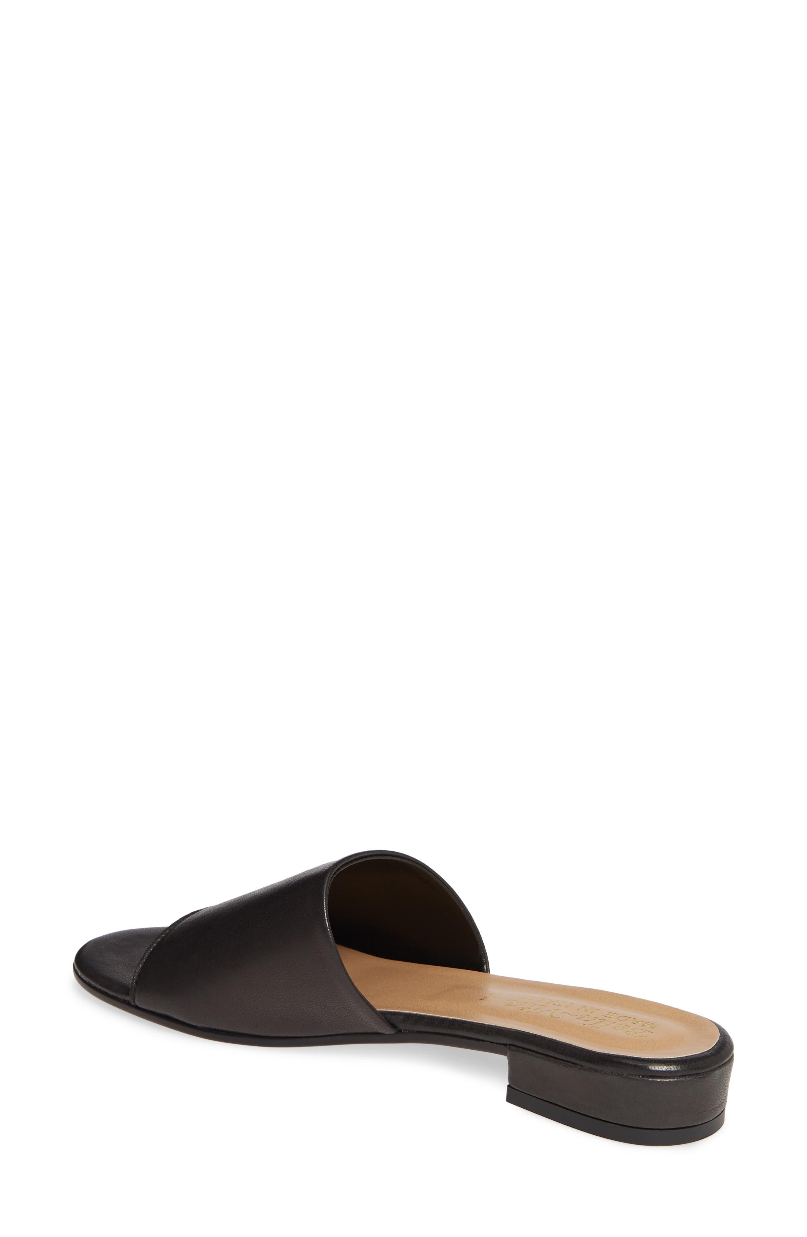 BELLA VITA, Slide Sandal, Alternate thumbnail 2, color, BLACK ITALIAN LEATHER