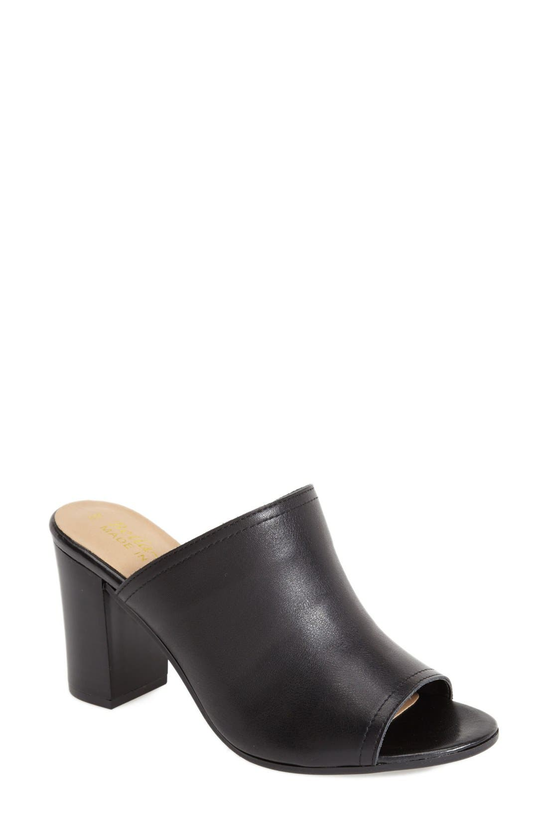 BELLA VITA, 'Arno' Leather Mule, Main thumbnail 1, color, 001
