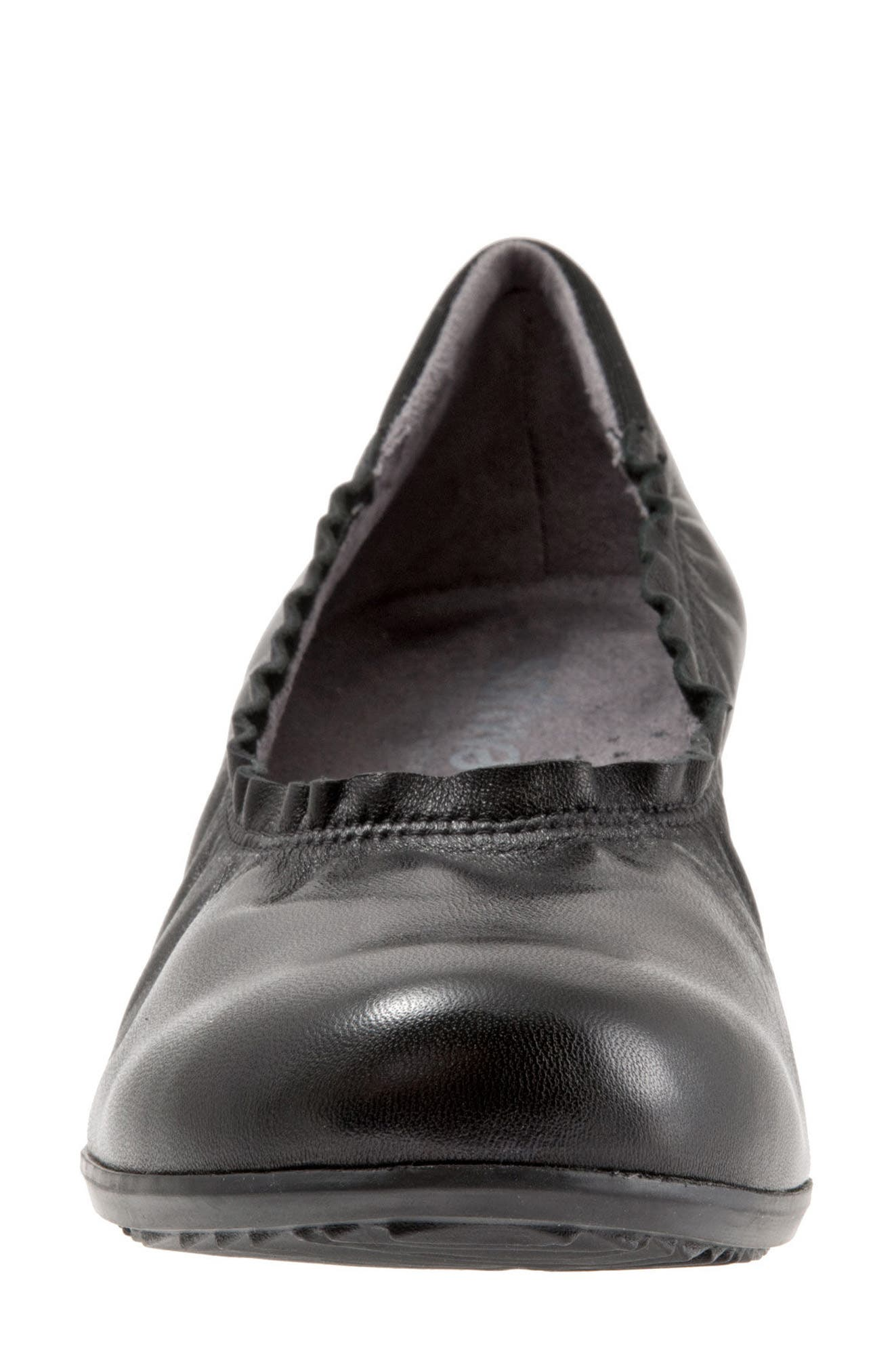 SOFTWALK<SUP>®</SUP>, Wish Ballet Wedge, Alternate thumbnail 4, color, BLACK LEATHER