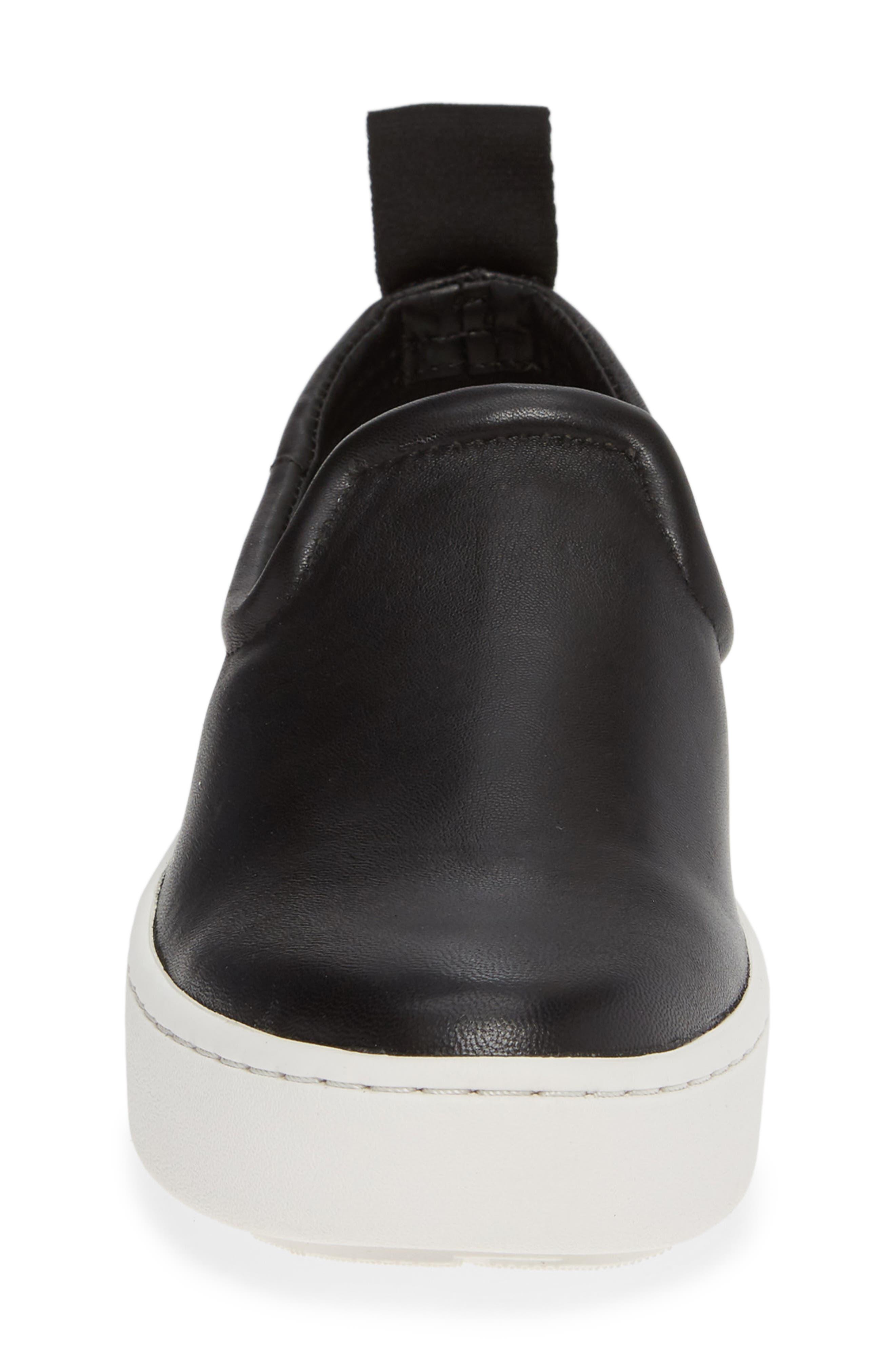 DOLCE VITA, Tag Slip-On Sneaker, Alternate thumbnail 4, color, BLACK LEATHER