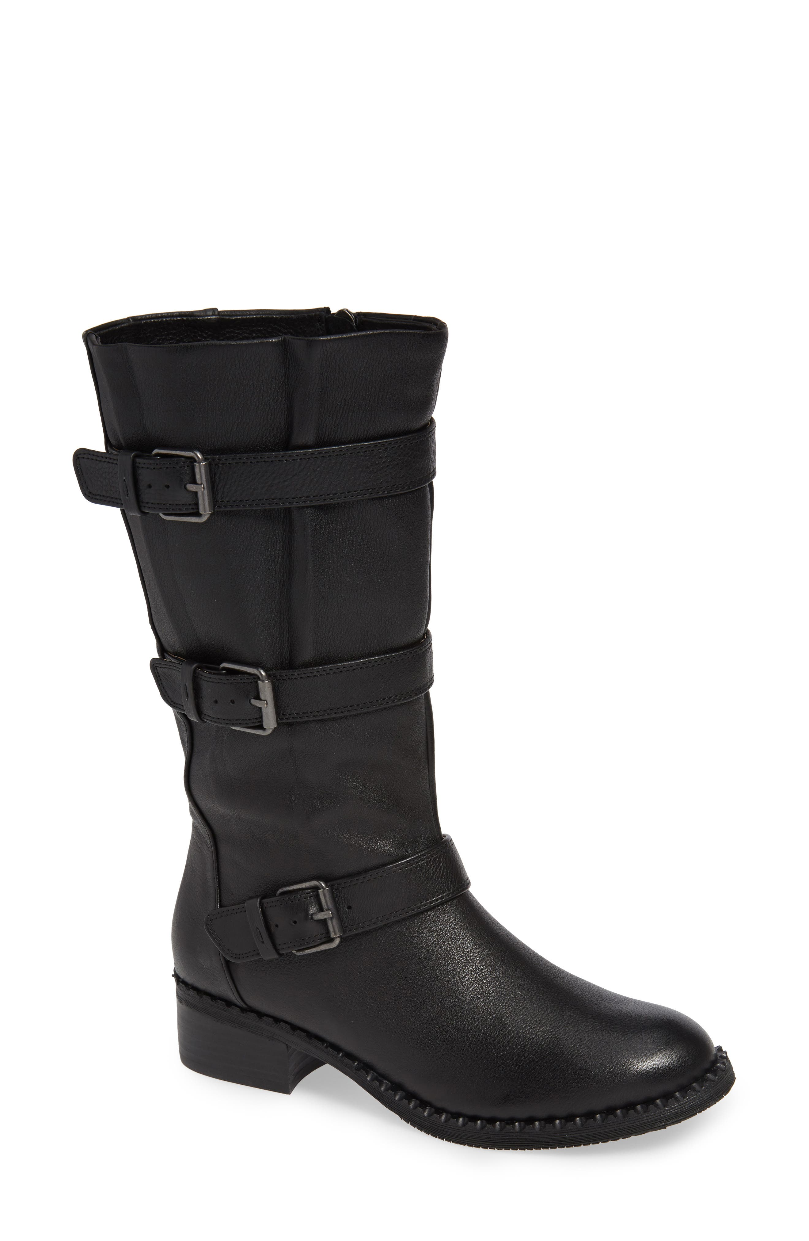 GENTLE SOULS BY KENNETH COLE, Best 3-Buckle Boot, Main thumbnail 1, color, 001