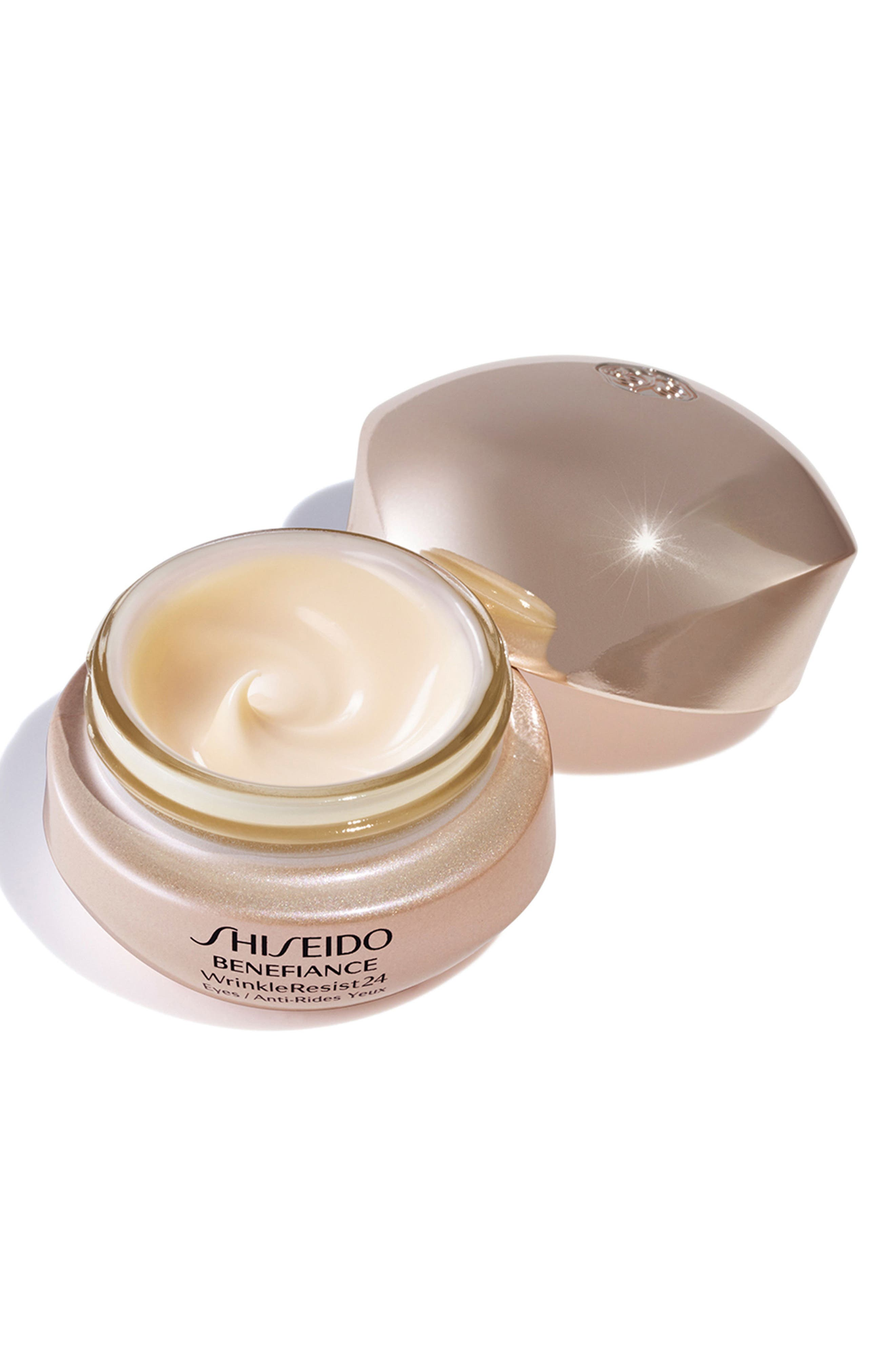 SHISEIDO, Benefiance WrinkleResist24 Intensive Eye Contour Cream, Alternate thumbnail 3, color, NO COLOR