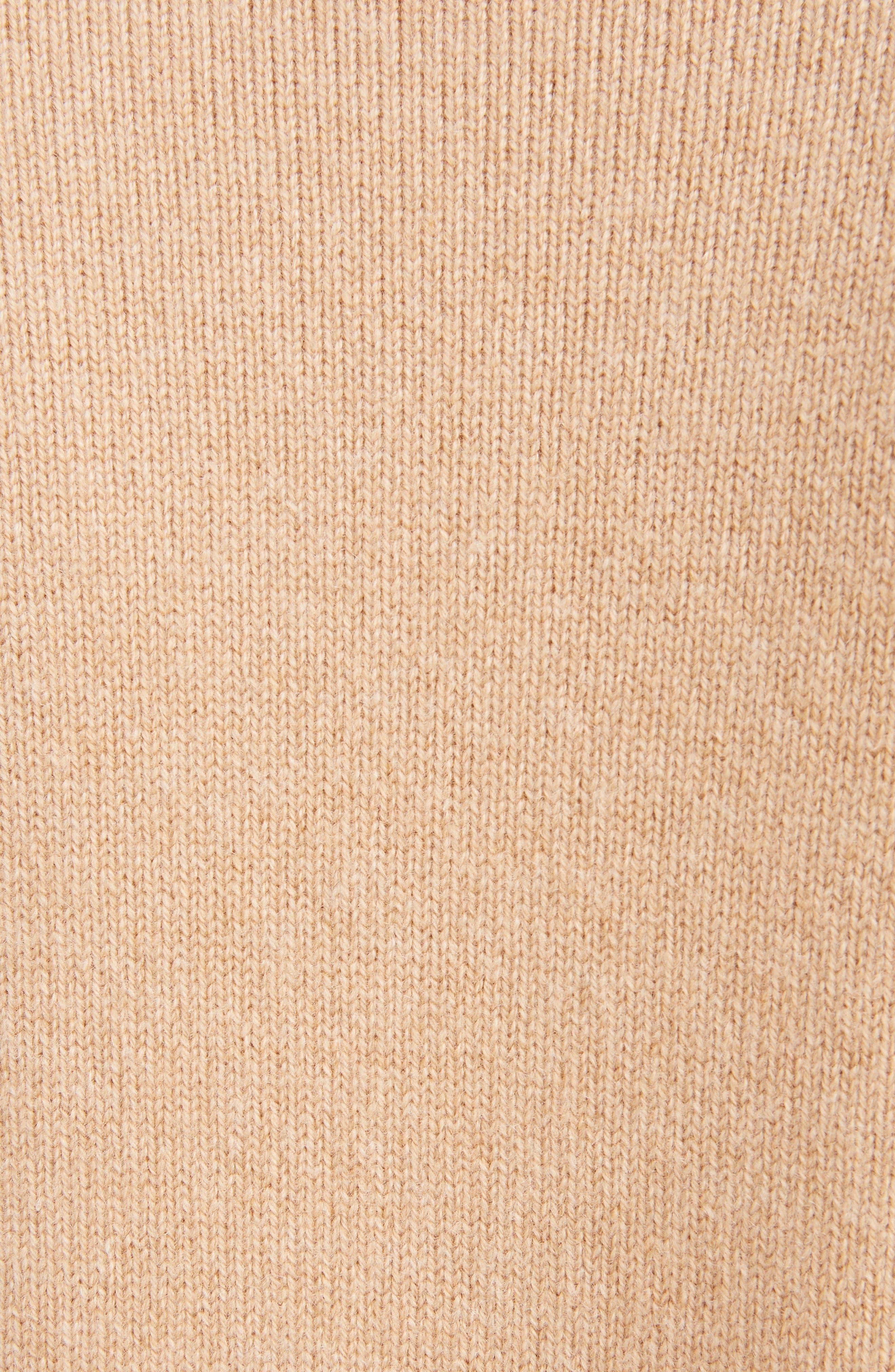 VICTORIA BECKHAM, Cashmere Blend Sweater, Alternate thumbnail 5, color, LIGHT CAMEL