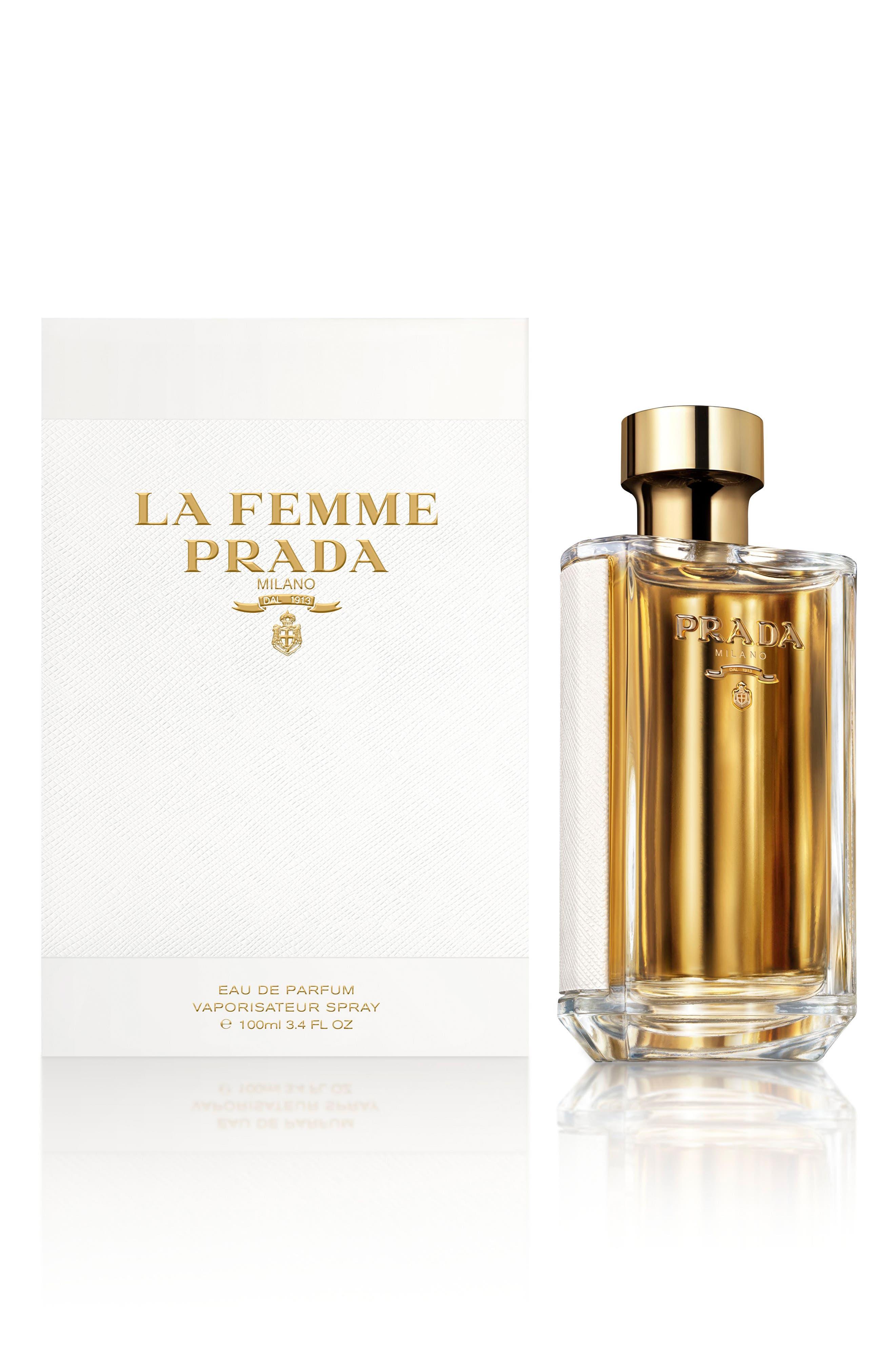 PRADA, La Femme Prada Eau de Parfum, Alternate thumbnail 4, color, NO COLOR