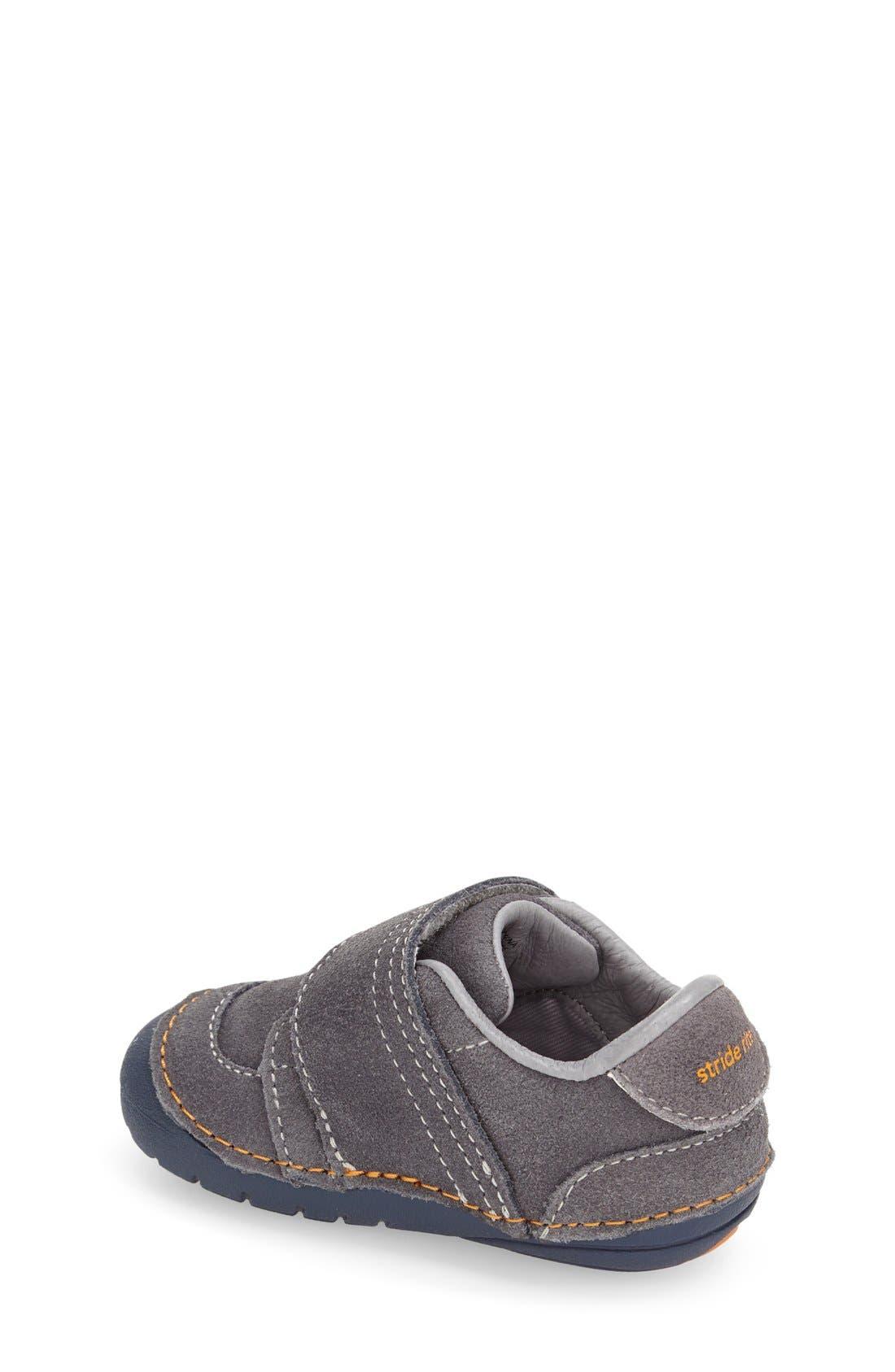 STRIDE RITE, Soft Motion Kellen Sneaker, Alternate thumbnail 2, color, GREY