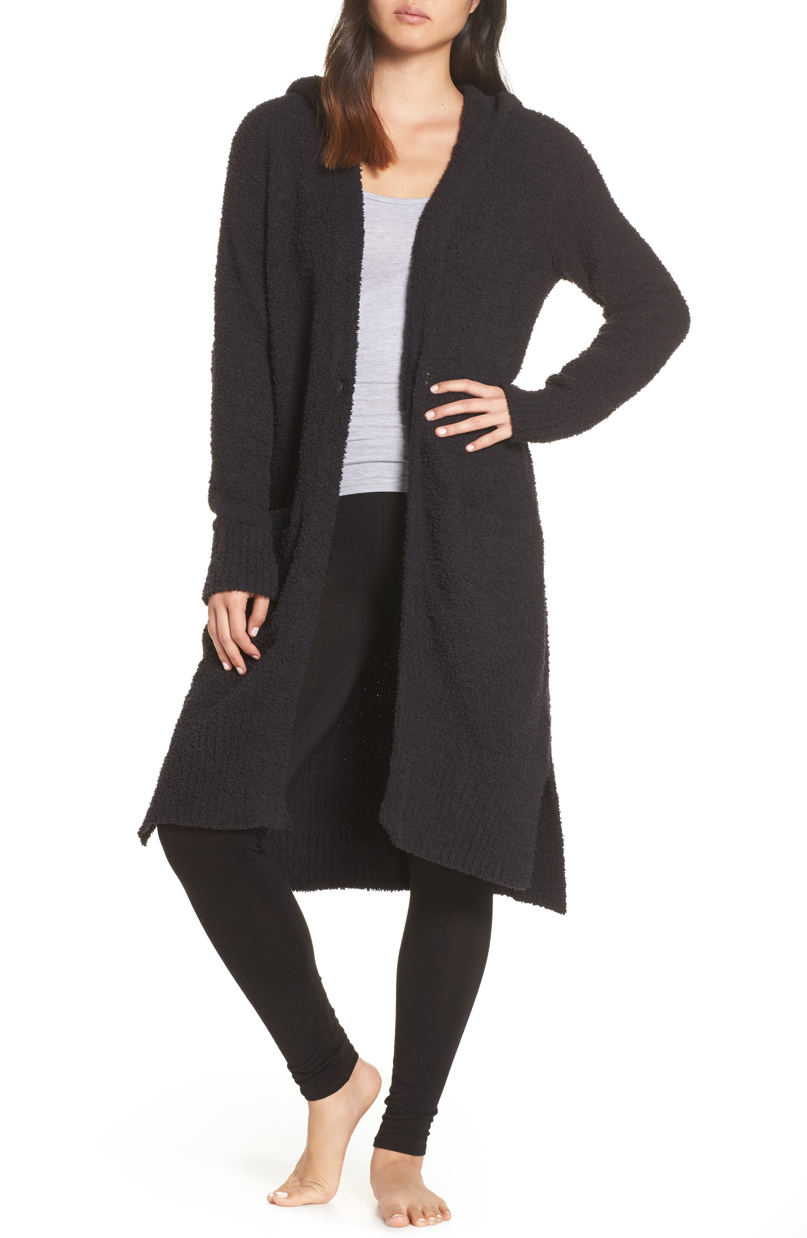 UGG<SUP>®</SUP>, Judith Long Cardigan, Main thumbnail 1, color, BLACK