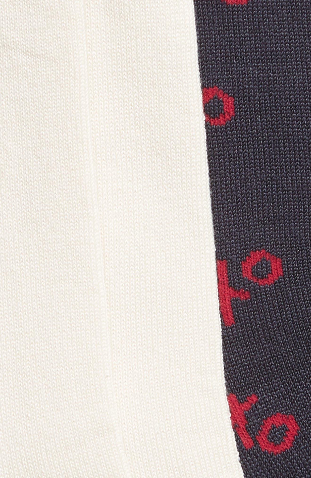 MAKE + MODEL, Supersoft 2-Pack Crew Socks, Alternate thumbnail 2, color, IVORY LIPS