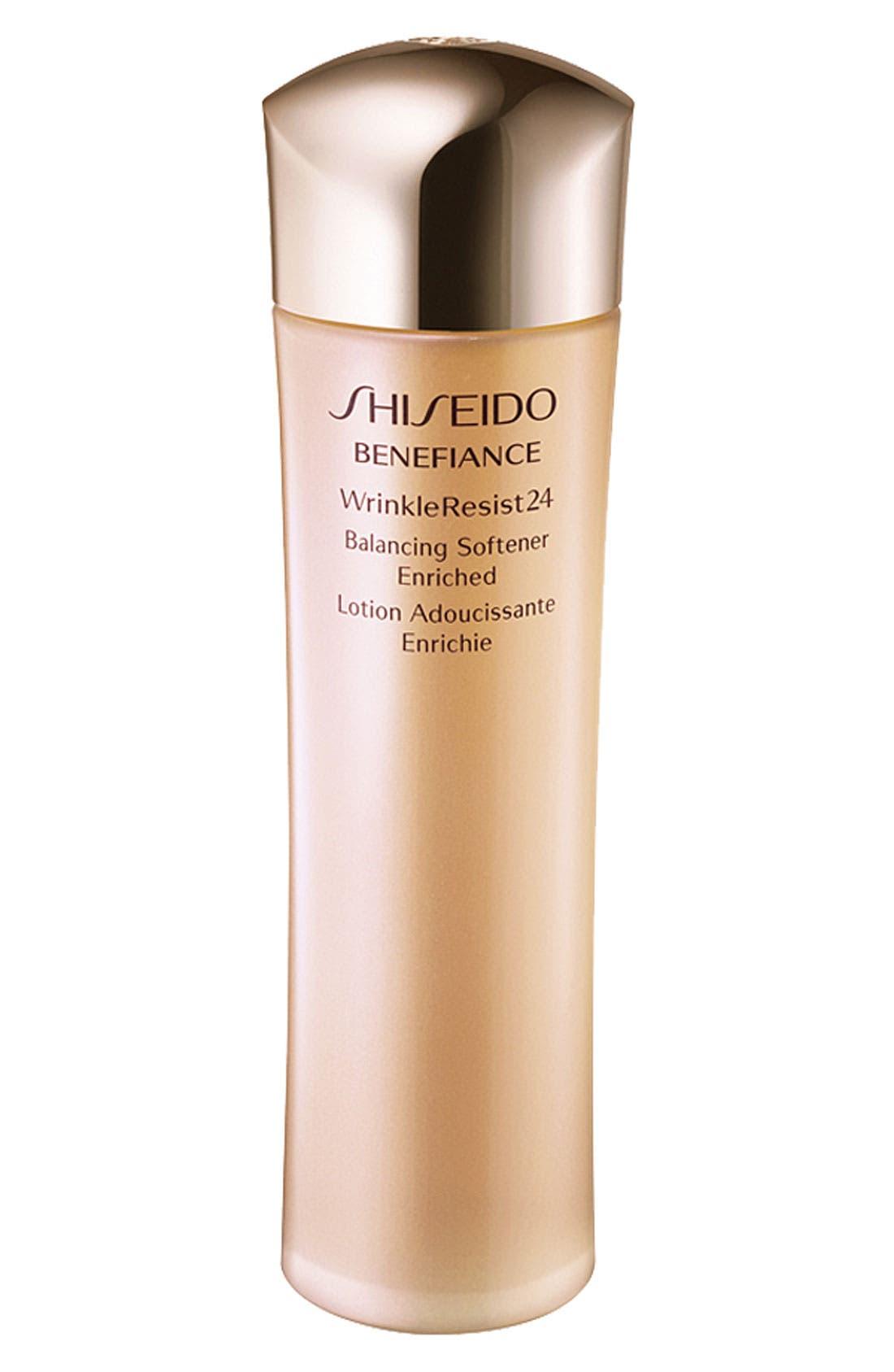 SHISEIDO, Benefiance WrinkleResist24 Balancing Softener Enriched, Main thumbnail 1, color, NO COLOR