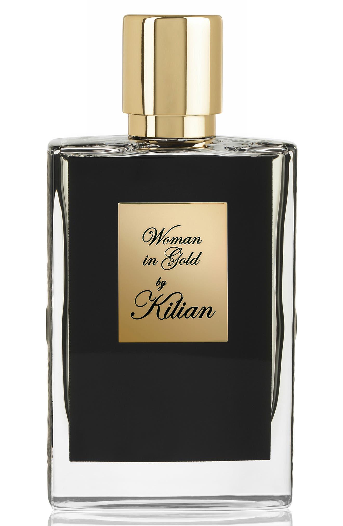 KILIAN, Woman in Gold Collector's Edition Refillable Perfume Spray, Main thumbnail 1, color, NO COLOR