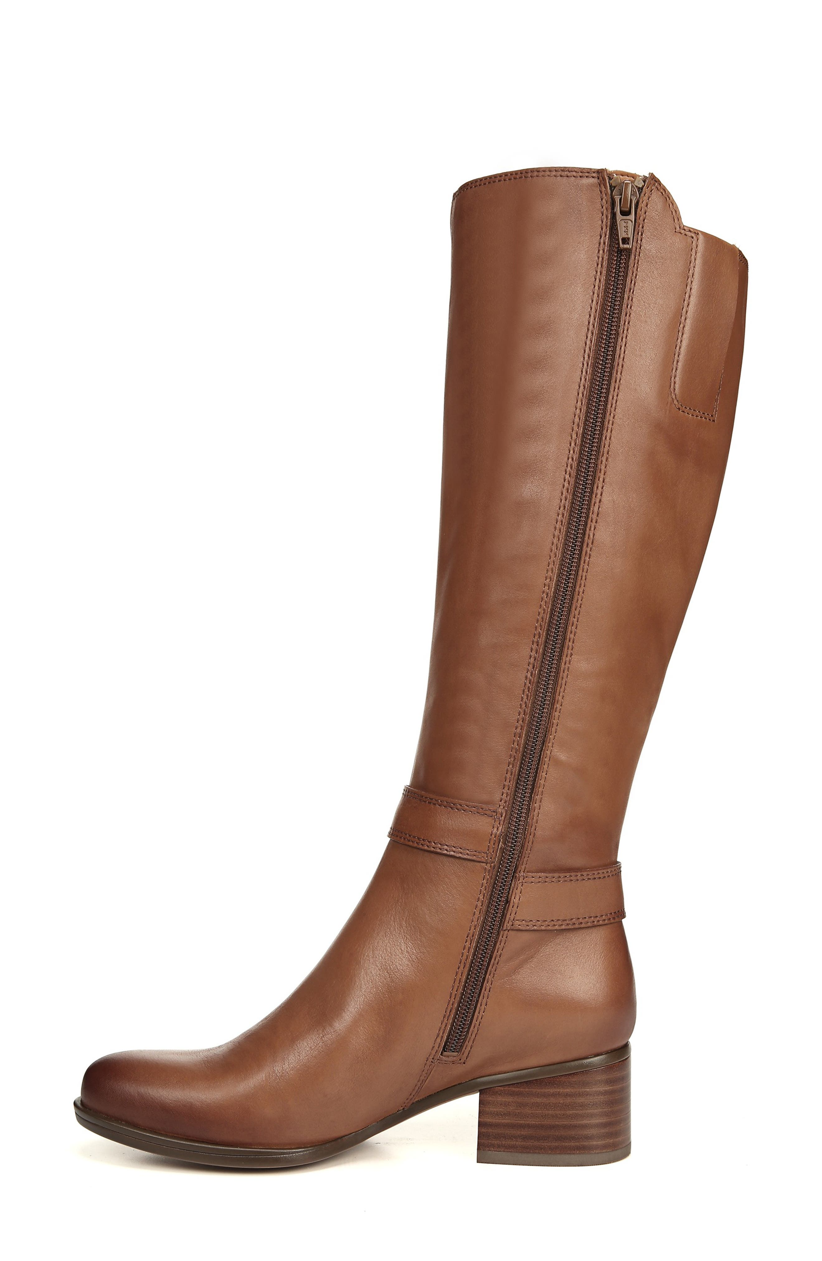 NATURALIZER, Dane Knee High Riding Boot, Alternate thumbnail 7, color, MAPLE LEATHER
