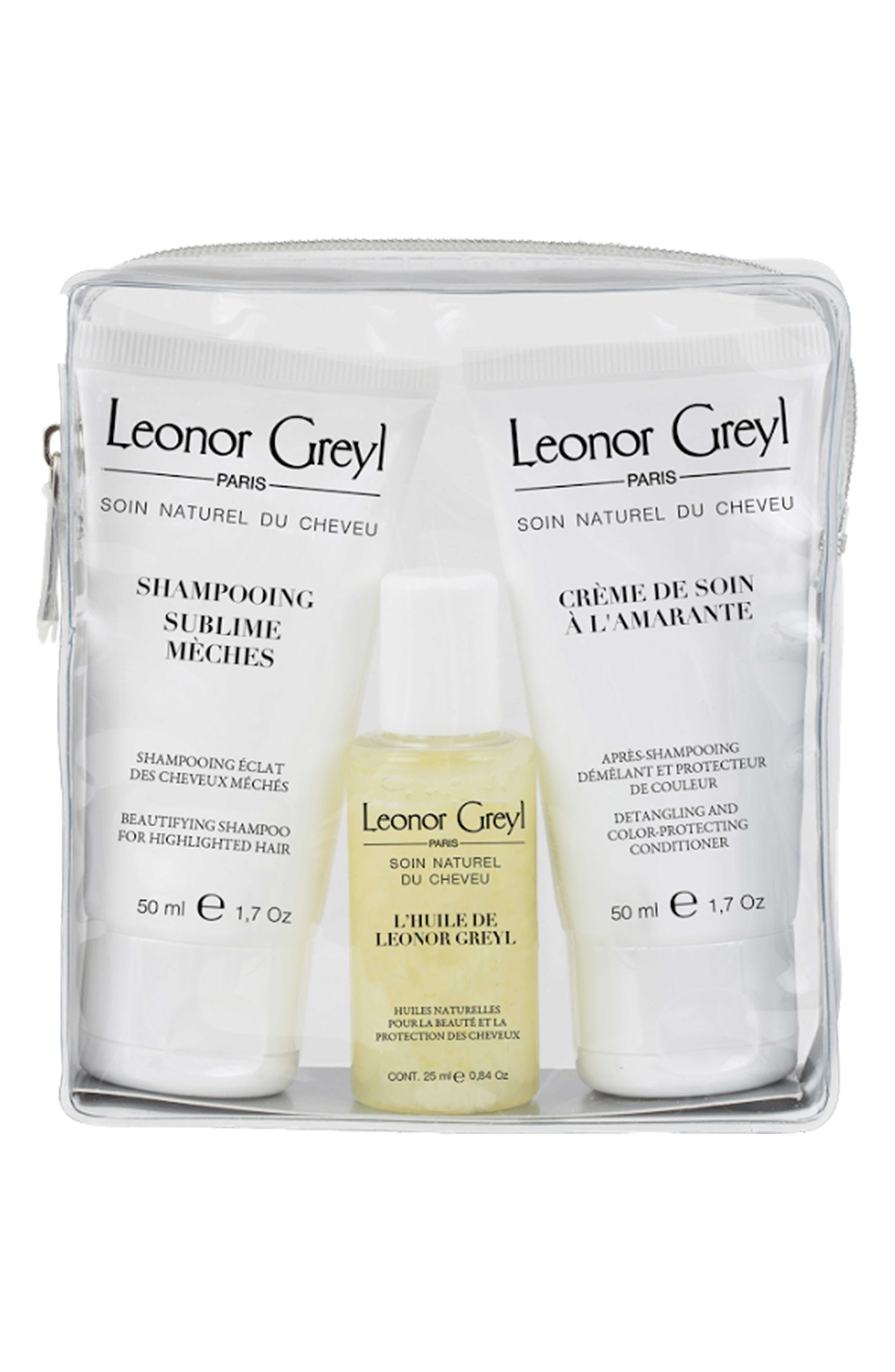 LEONOR GREYL PARIS, Luxury Travel Kit for Color Treated Hair, Main thumbnail 1, color, NO COLRO