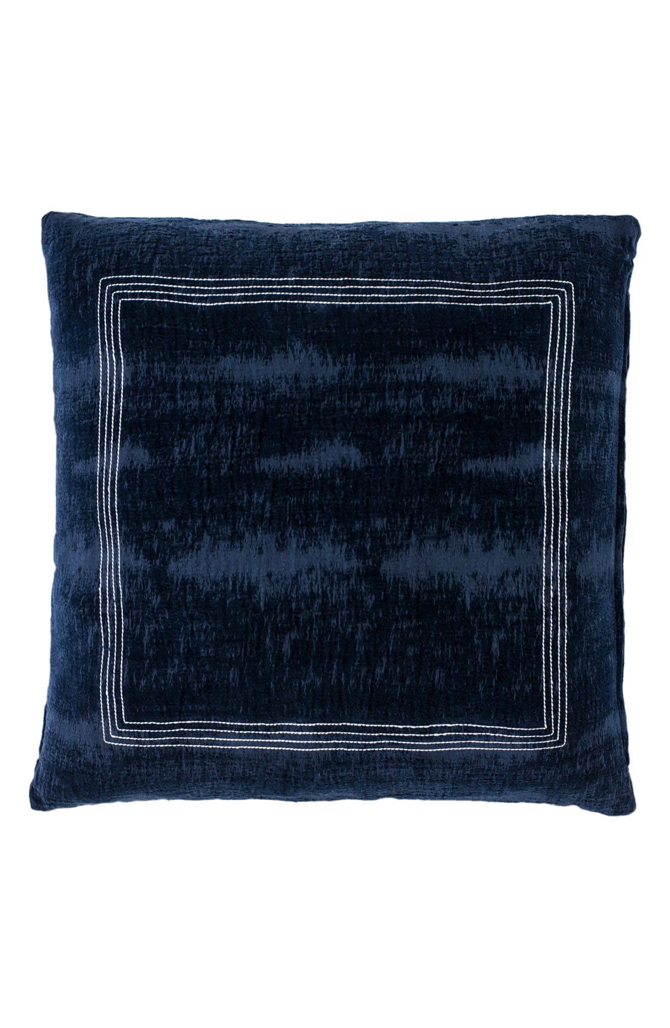 EADIE LIFESTYLE Soho Scatter Cotton Chenille Accent Pillow, Main, color, NAVY/ WHITE