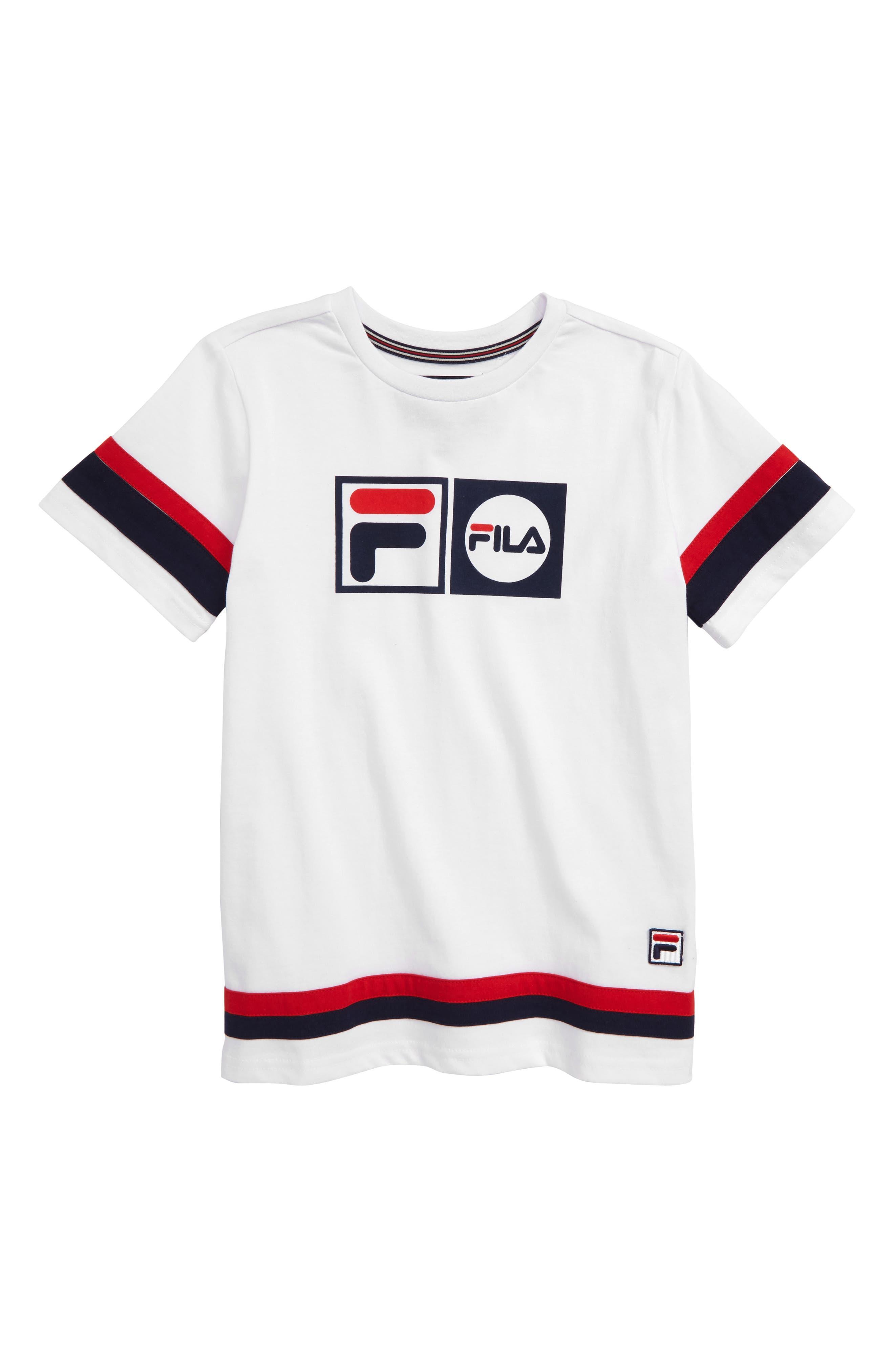FILA Logo T-Shirt, Main, color, WHITE