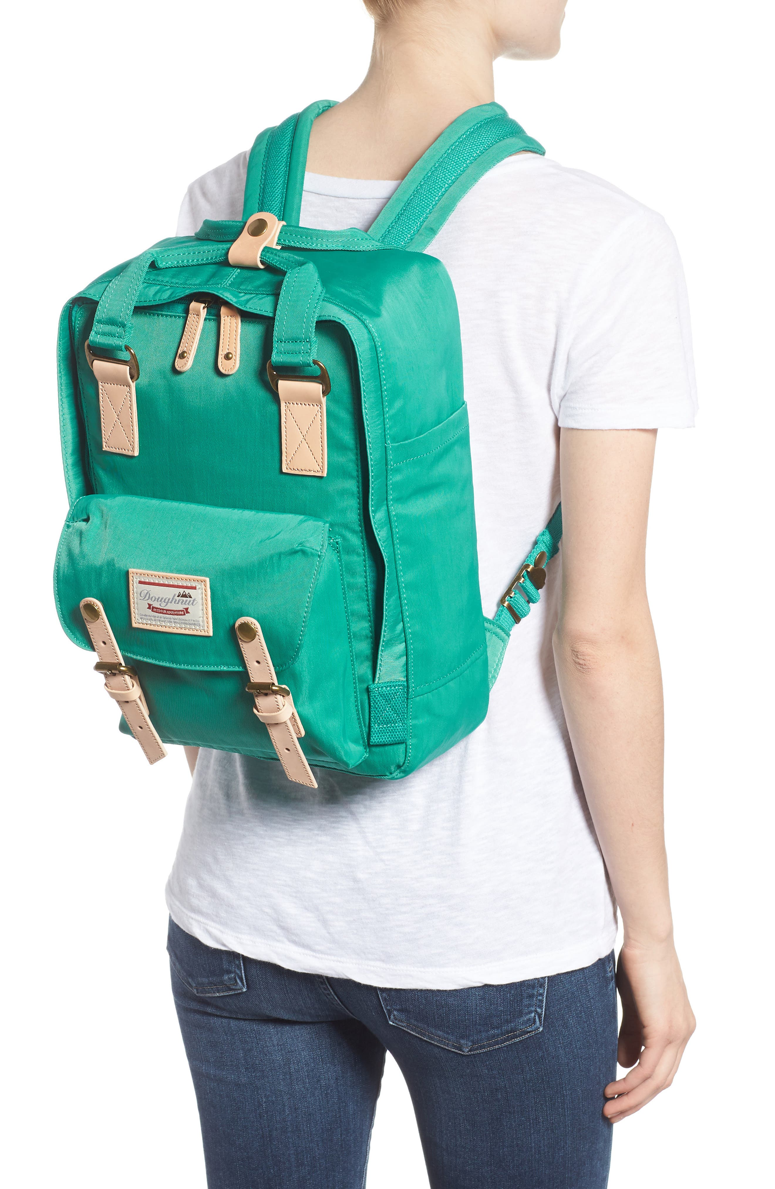 DOUGHNUT, Macaroon Water Resistant Backpack, Alternate thumbnail 2, color, MINT