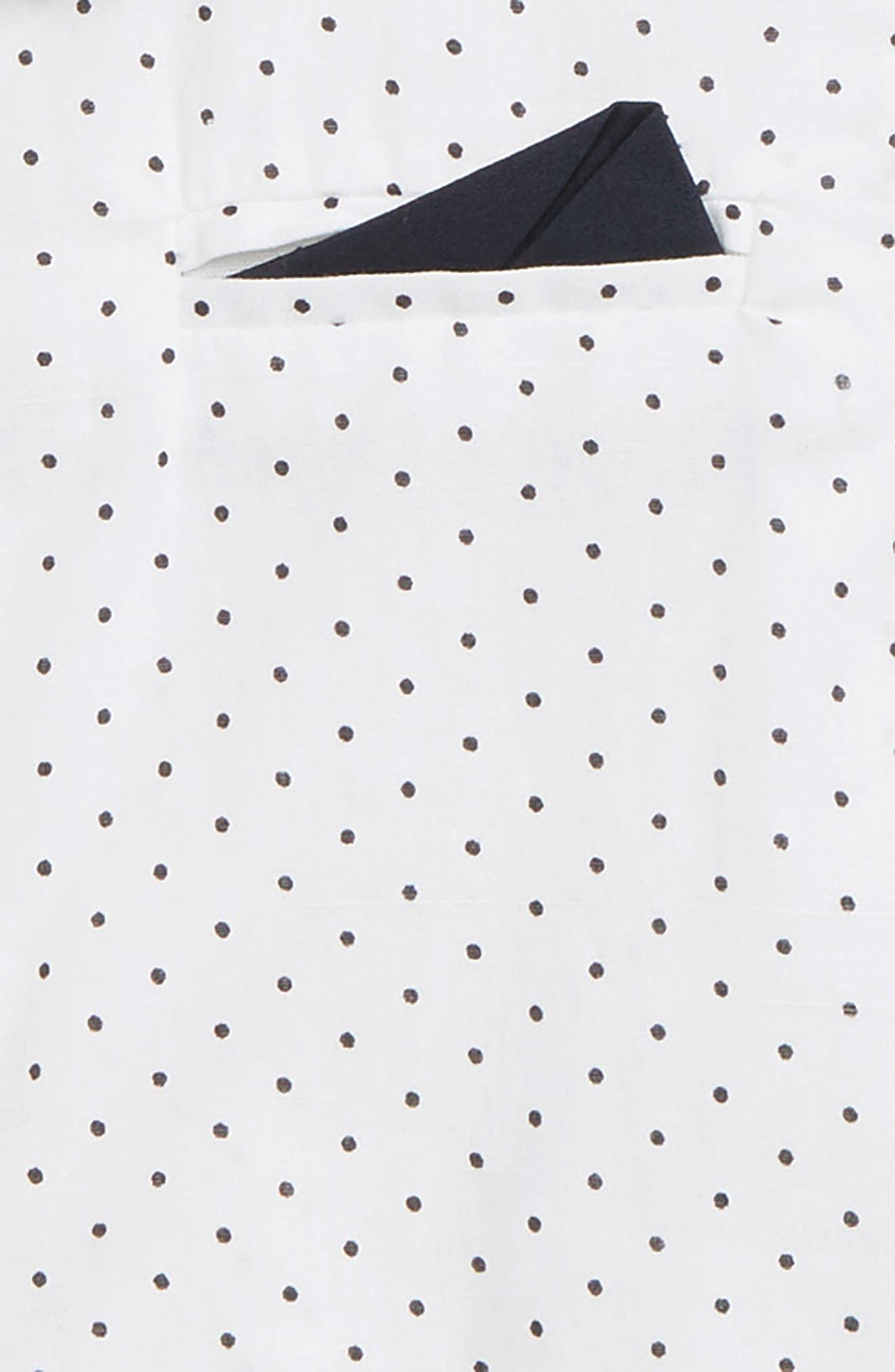 BARDOT JUNIOR, Dobby Shirt, Alternate thumbnail 2, color, 100