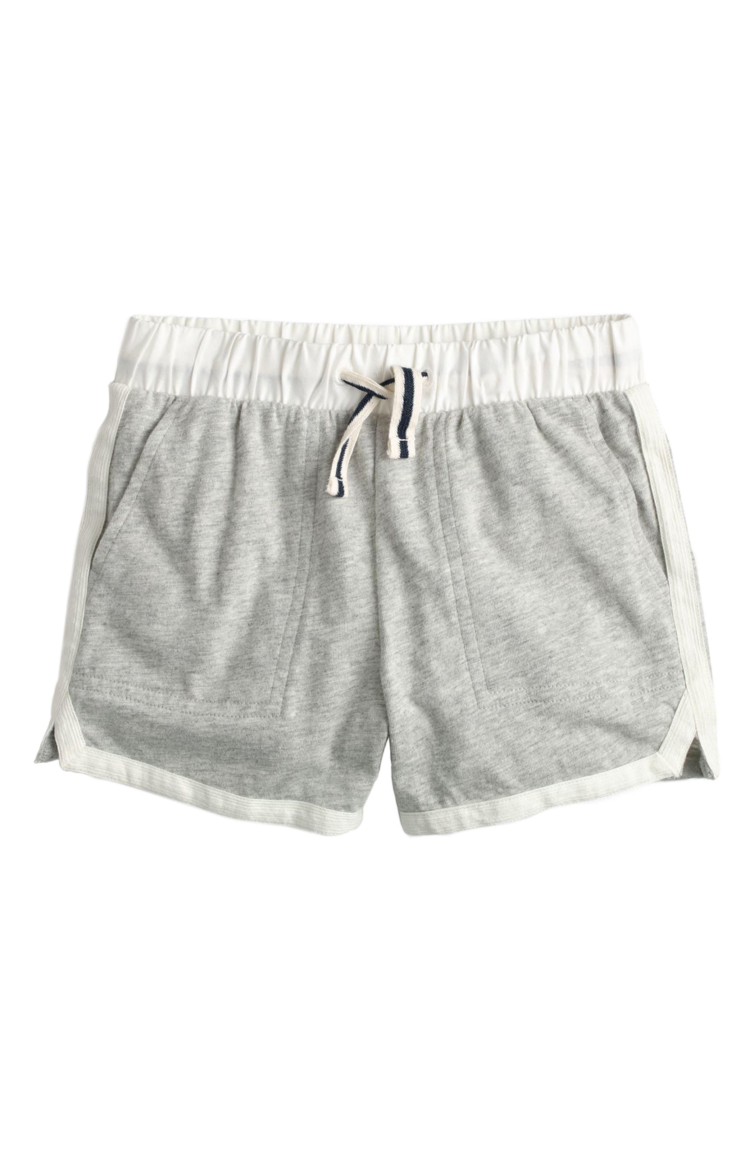 CREWCUTS BY J.CREW Ester Cotton Shorts, Main, color, 020