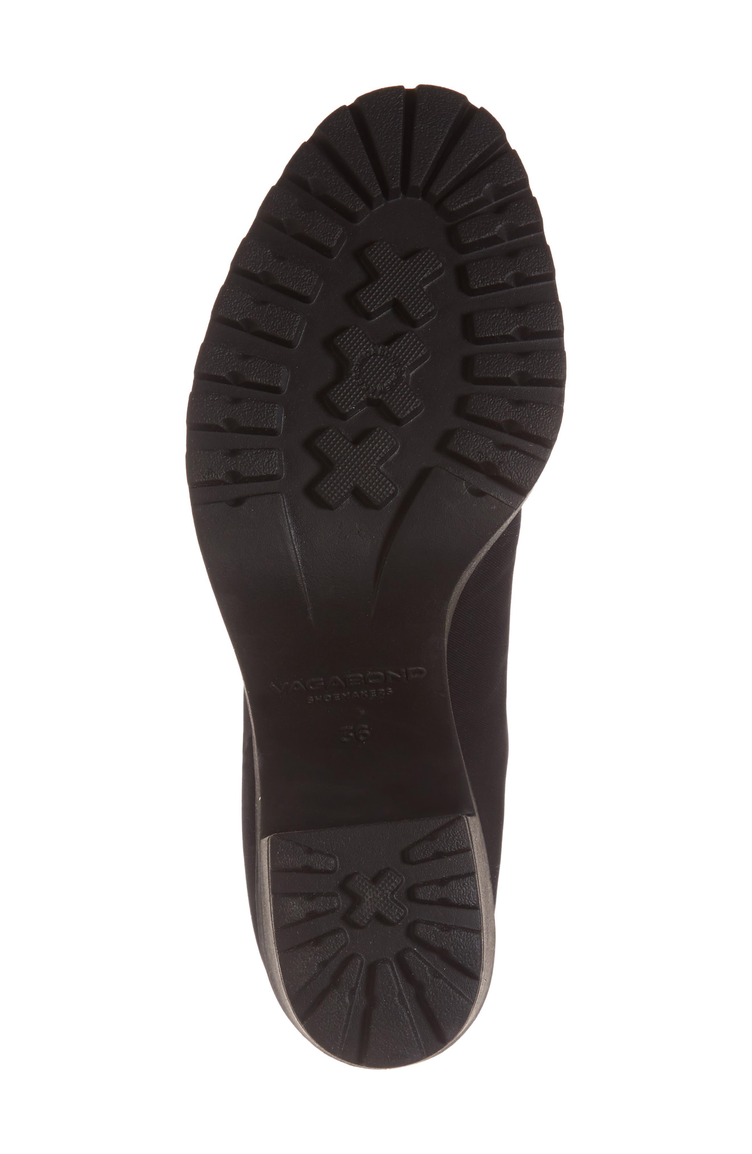 VAGABOND, Shoemakers Grace Platform Bootie, Alternate thumbnail 6, color, BLACK FABRIC